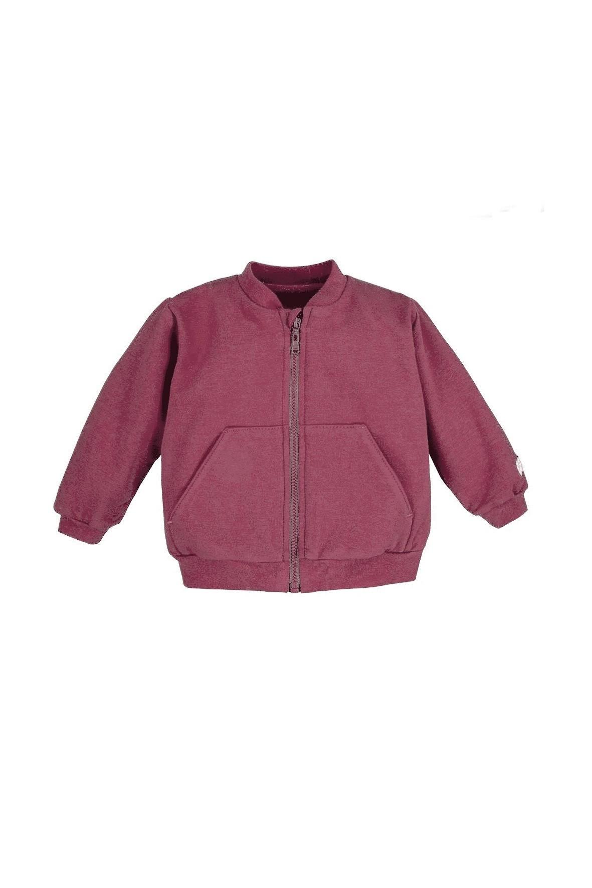 Bawełniana bluza bomberka - borodowa