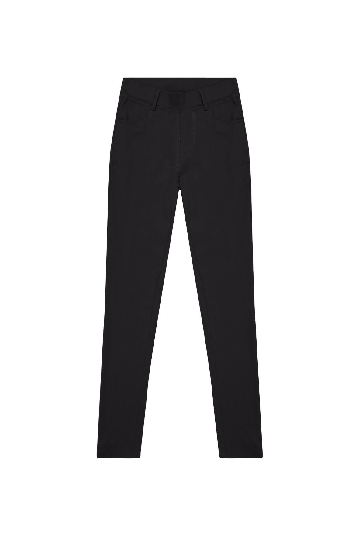 Jegginsy damskie w kolorze czarnym