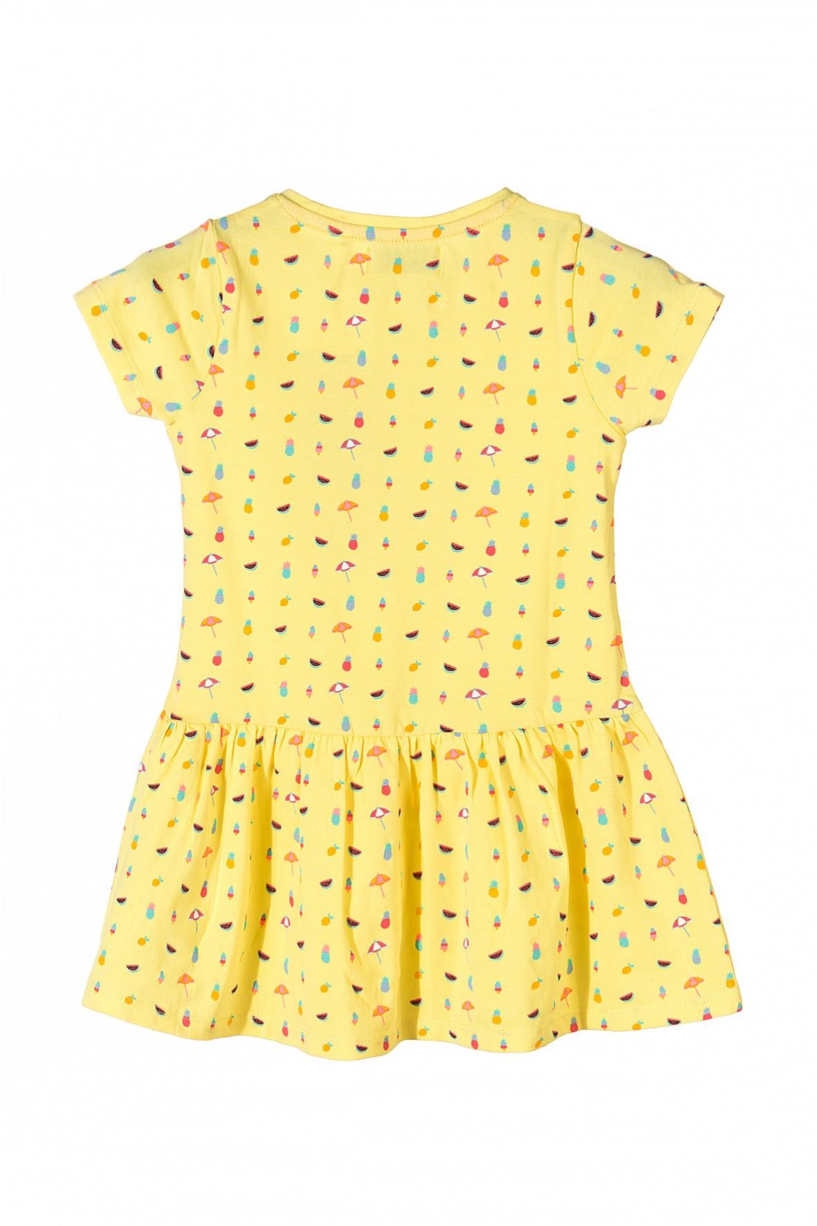 afaf45ce71 Żółta sportowa sukienka dla dziewczynki w rozmiarach 92-128