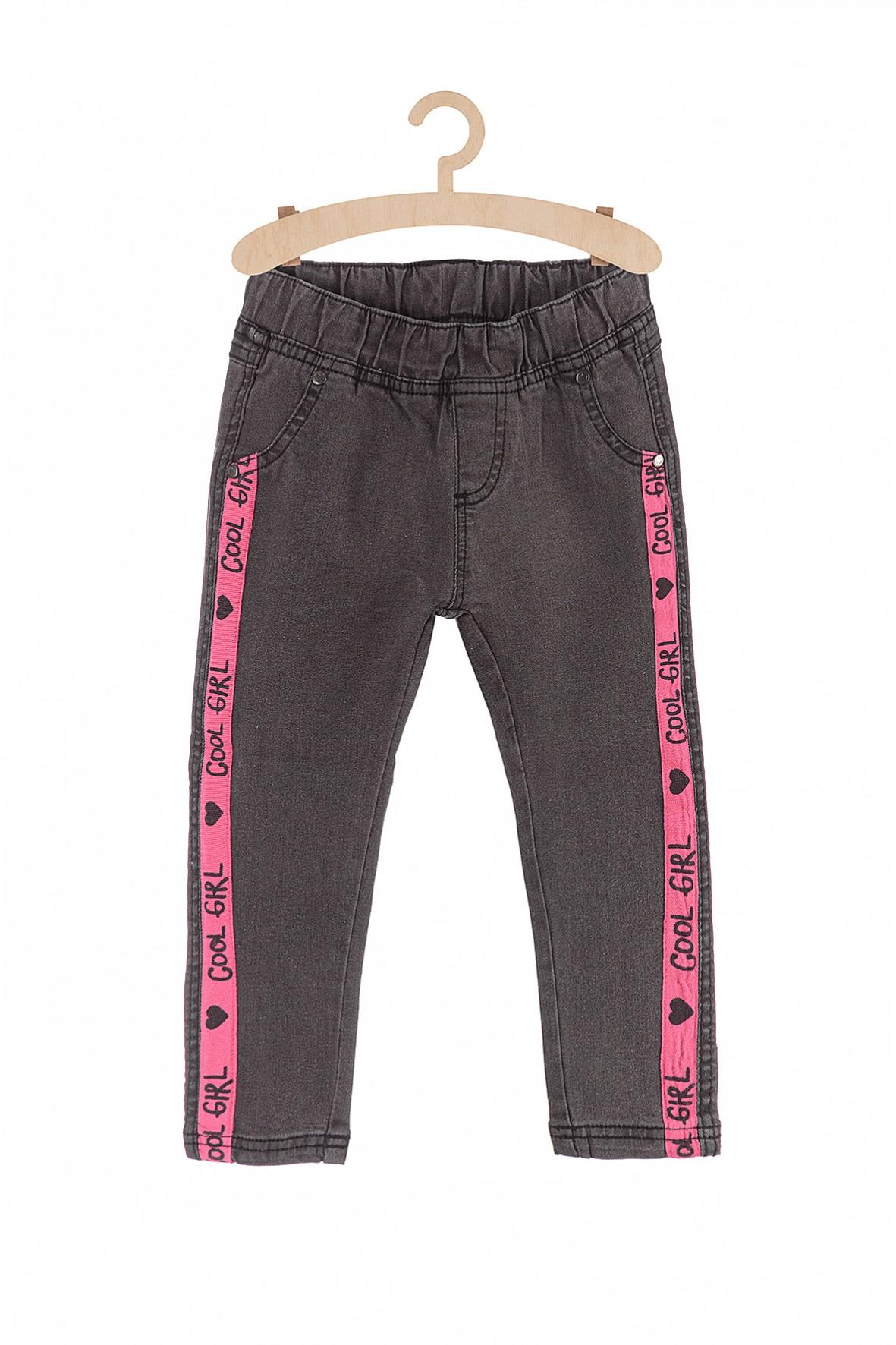 Spodnie dziewczęce z różowymi wstawkami