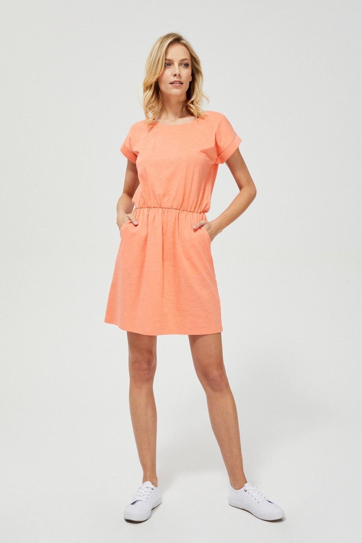 Bawełniana sukienka damska brzoskwiniowa