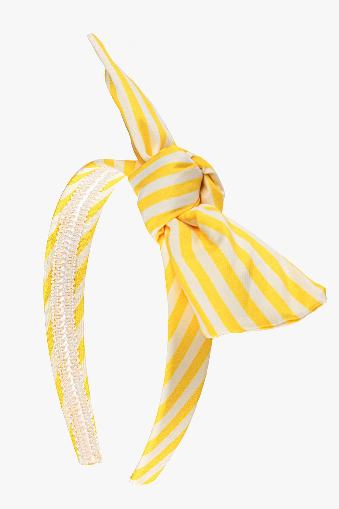Opaska do włosów żółta w paski