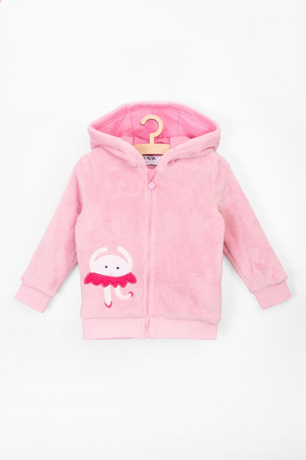 Bluza niemowlęca z kapturem- różowa