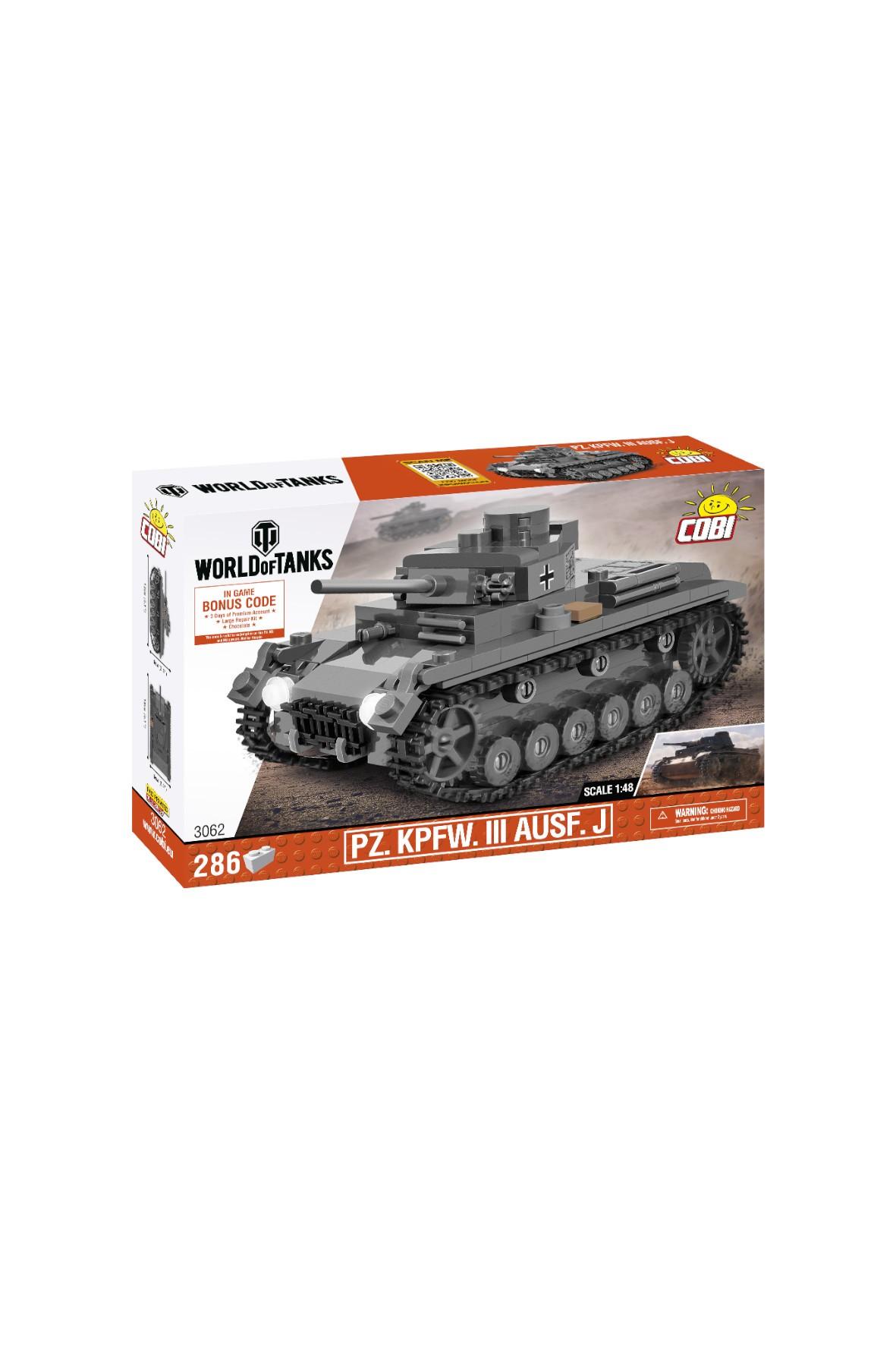 Klocki Cobi Czołg Pz.Kpfw.III Ausf .j  SKALA 1;48 - 286 elementów wiek 6+