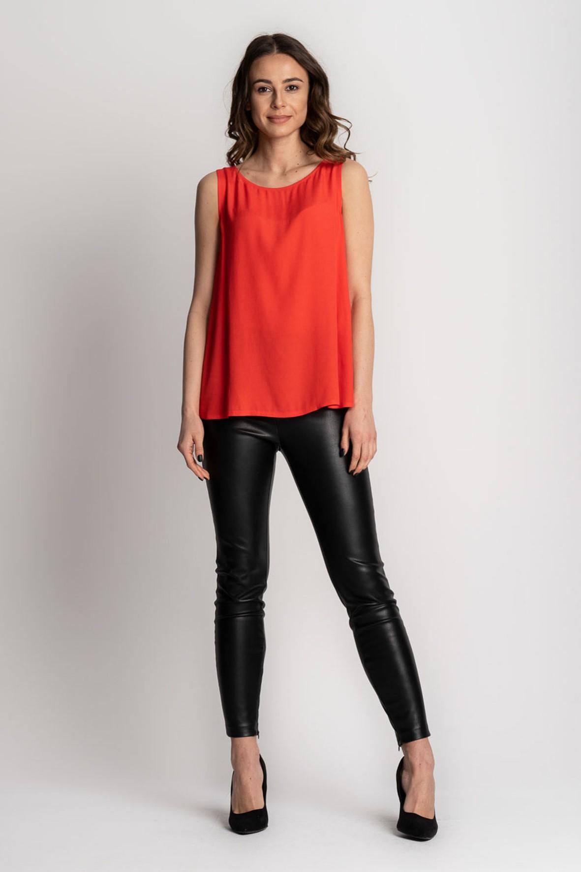 Czerwona bluzka damska na grube ramiączka