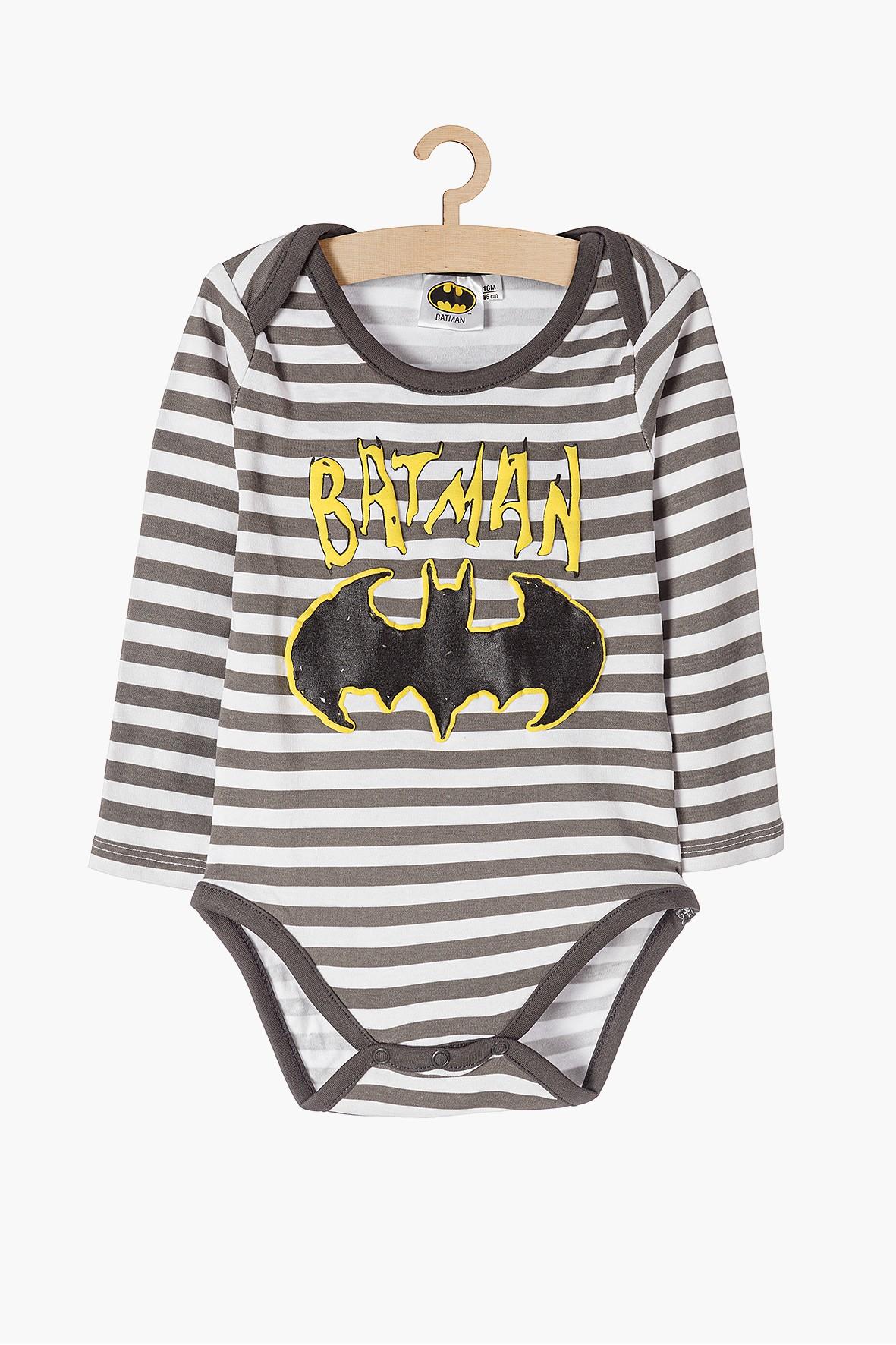 Body chłopięce w szare paski Batman