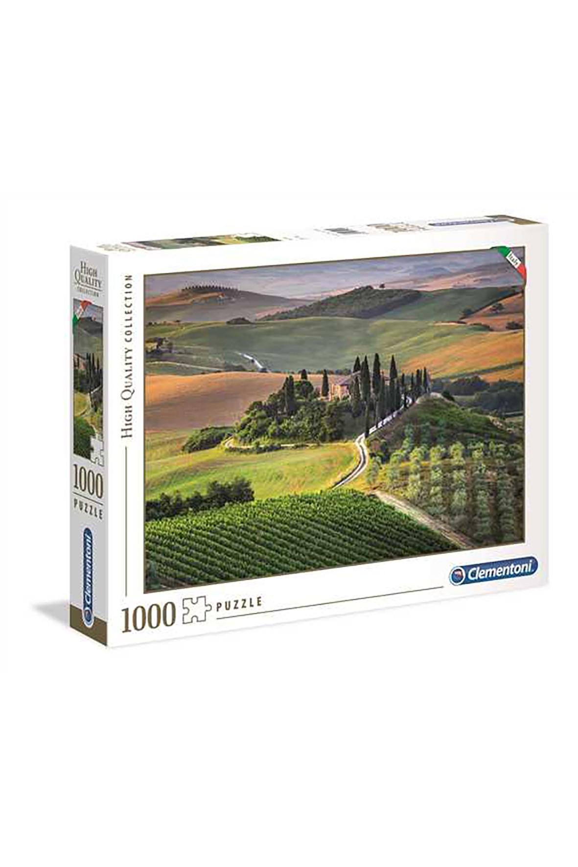 Puzzle HQ Toskania Clementoni - 1000  elementów
