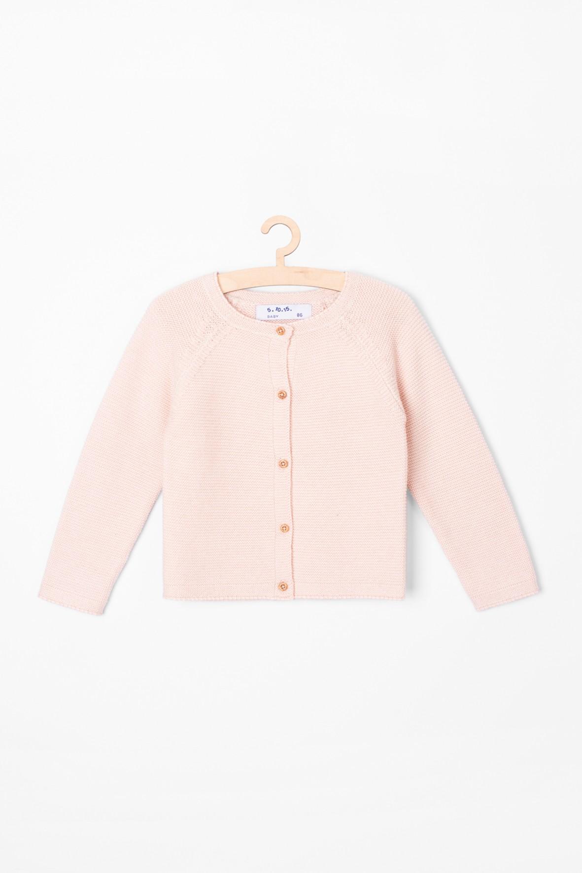 Sweter dziewczęcy - różowy