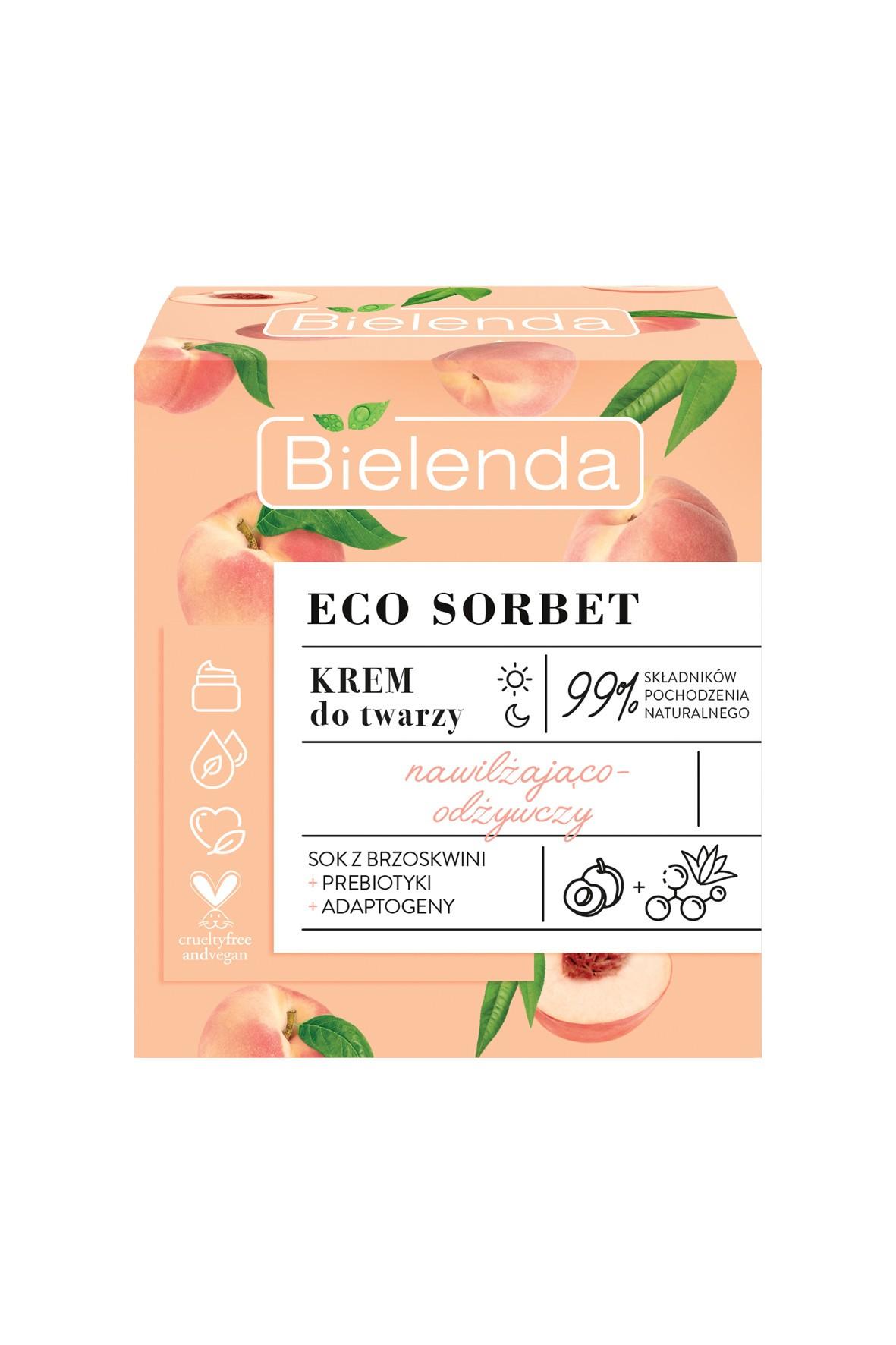 ECO SORBET Brzoskwinia - krem - nawilżająco-odżywczy, 50 ml