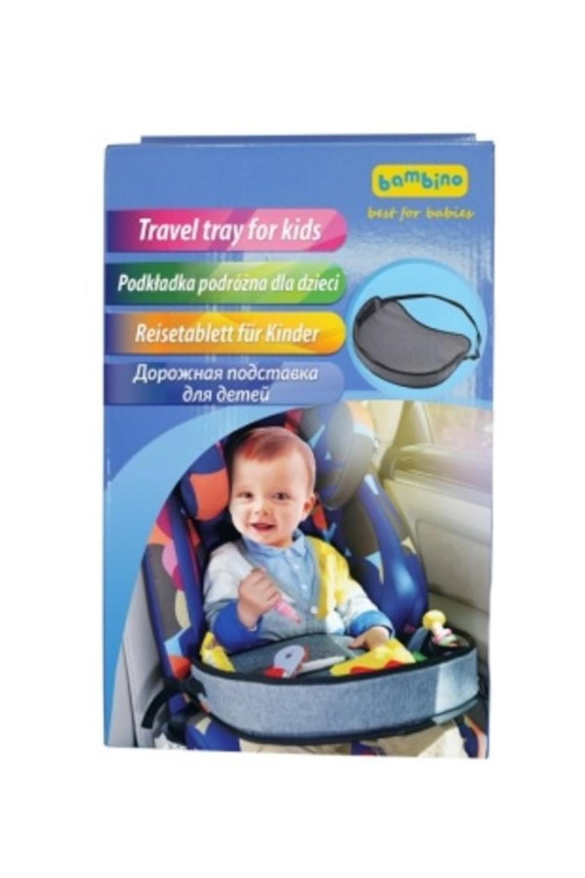 Stolik podróżny dla dzieci - szary