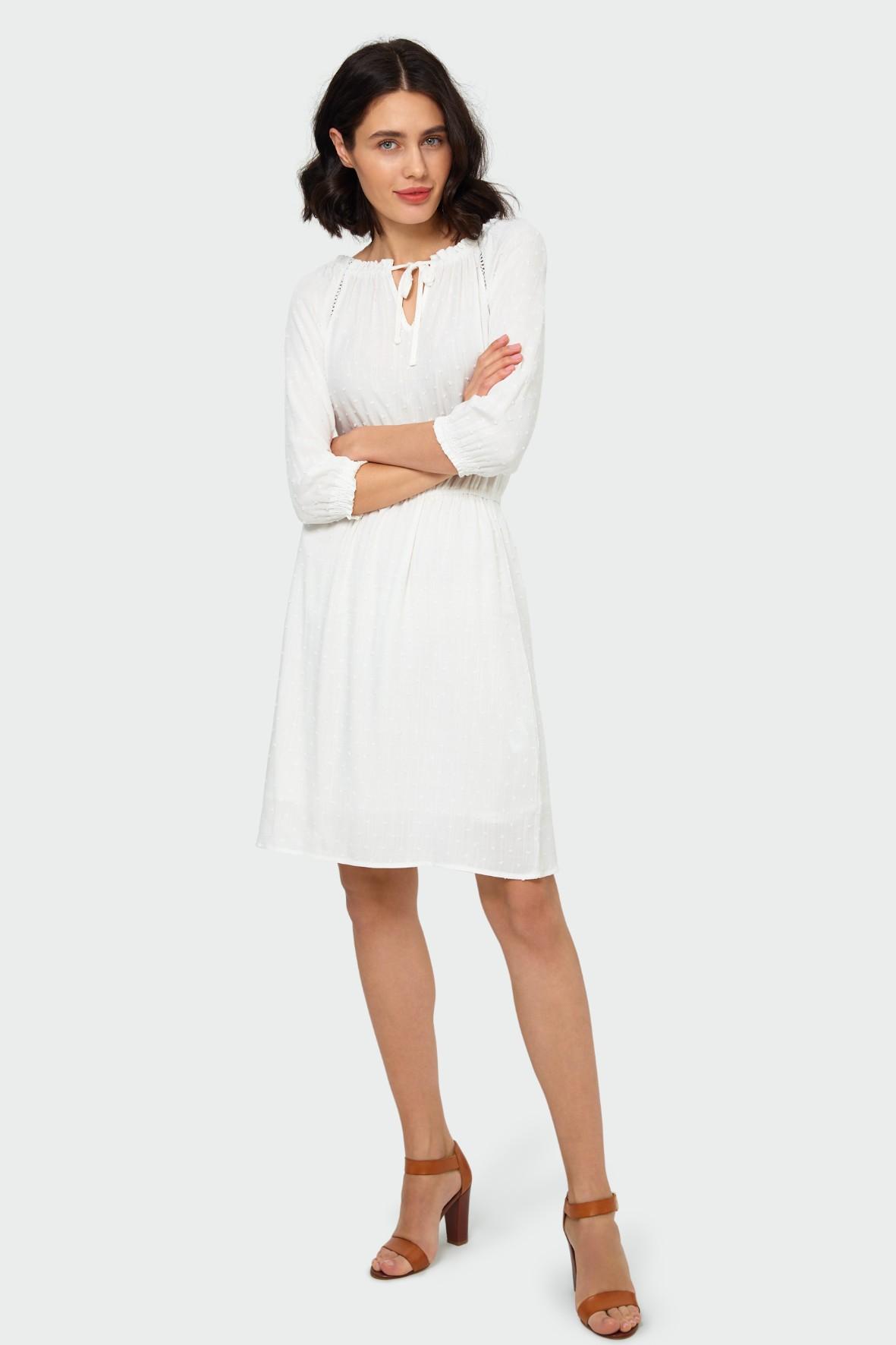 Sukienka o luźnym kroju typu hiszpanka biała