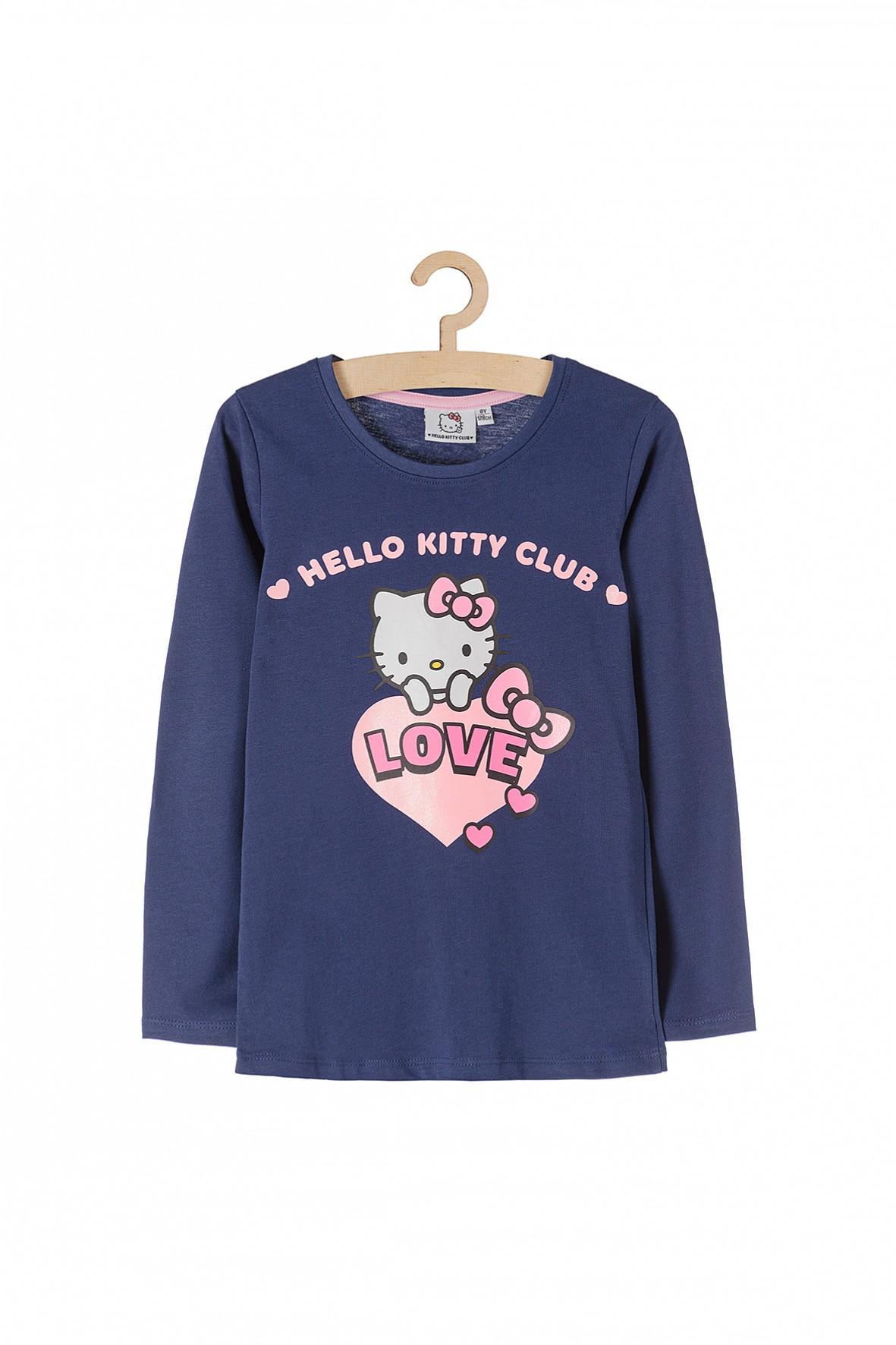 Bluzka dziewczęca Hello Kitty Club- granatowa