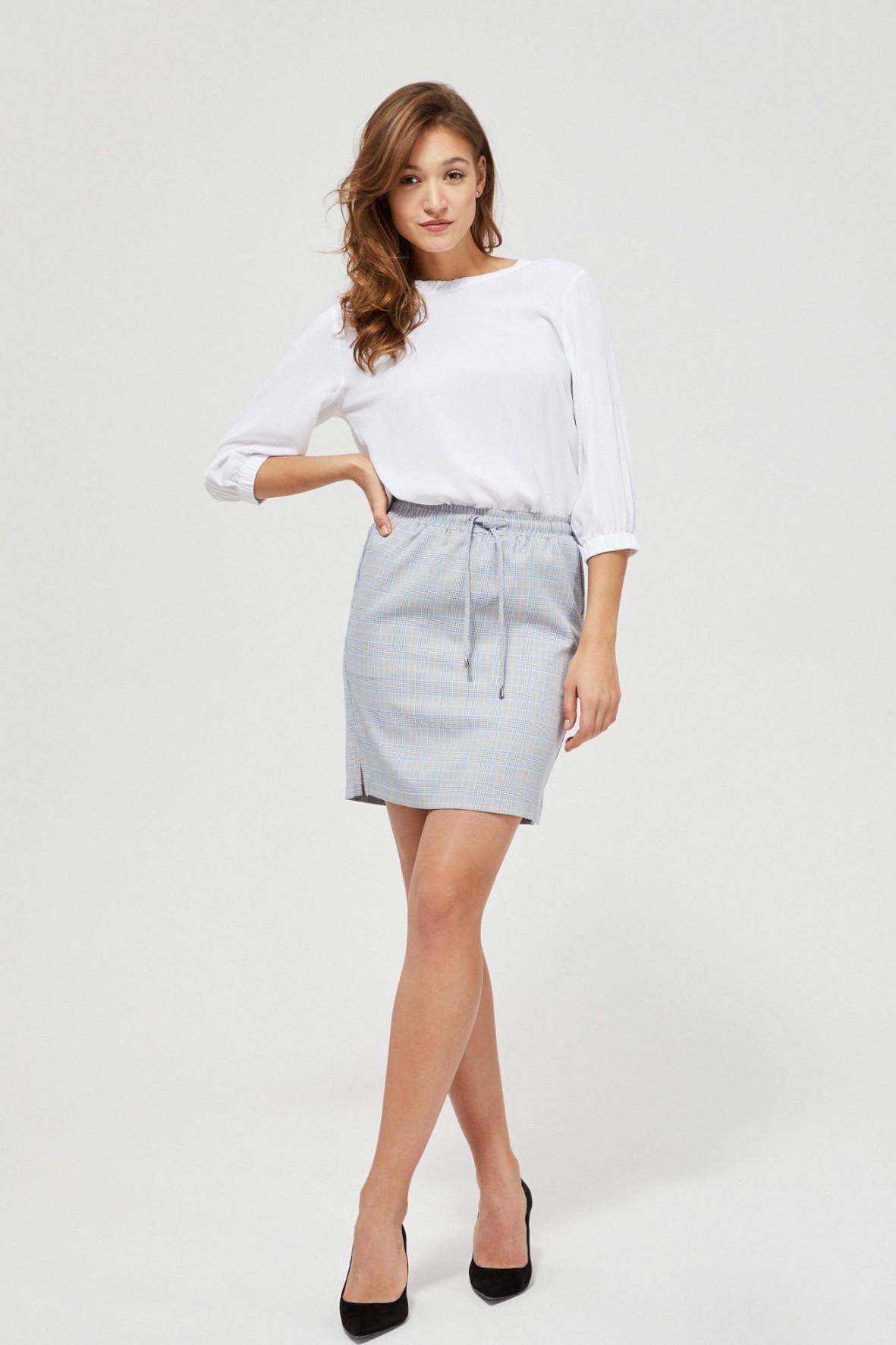Szara spódnica mini w kratę