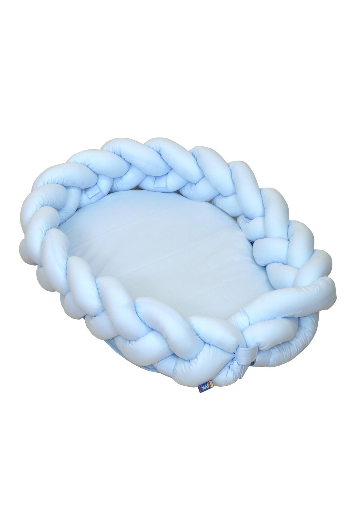 Warkocz - kokon Amy Unicolor niebieski