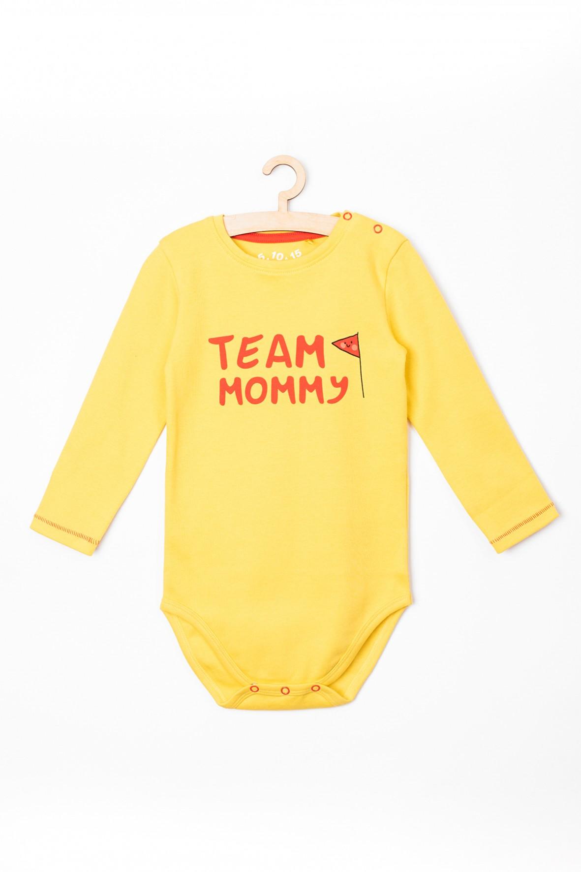 """Body niemowlęce z napisem """"Team Mommy"""""""