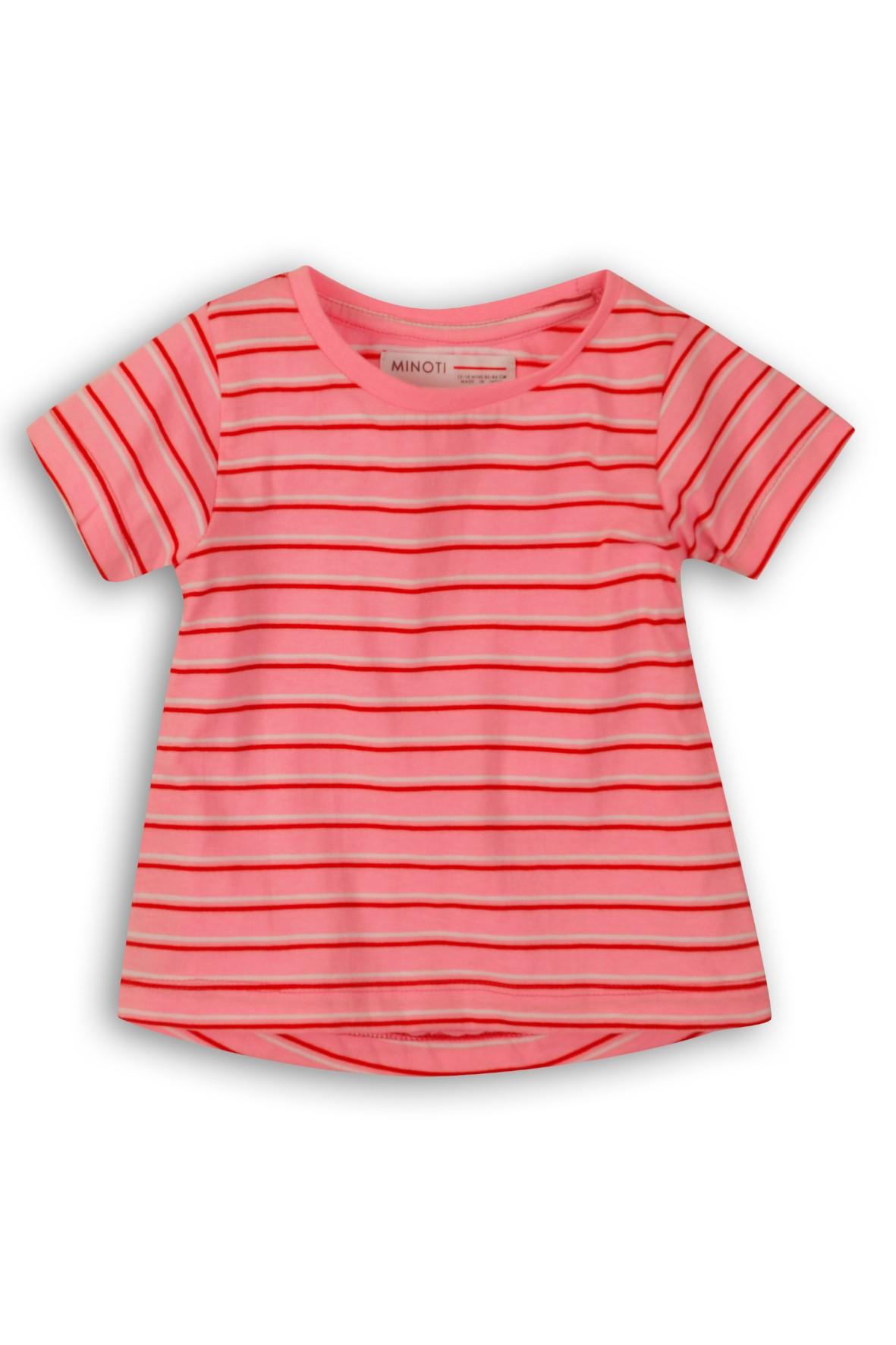 T-Shirt dziewczęcy różowy w paski