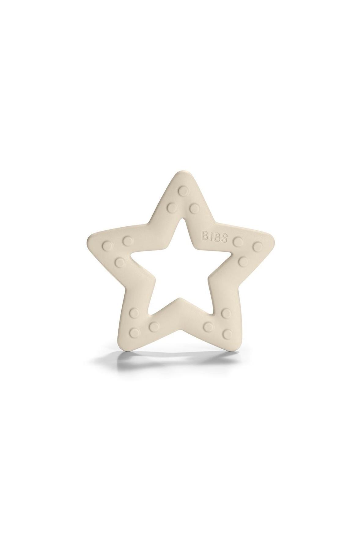 BIBS Baby Bitie STAR Ivory gryzak dla niemowlaka - biały
