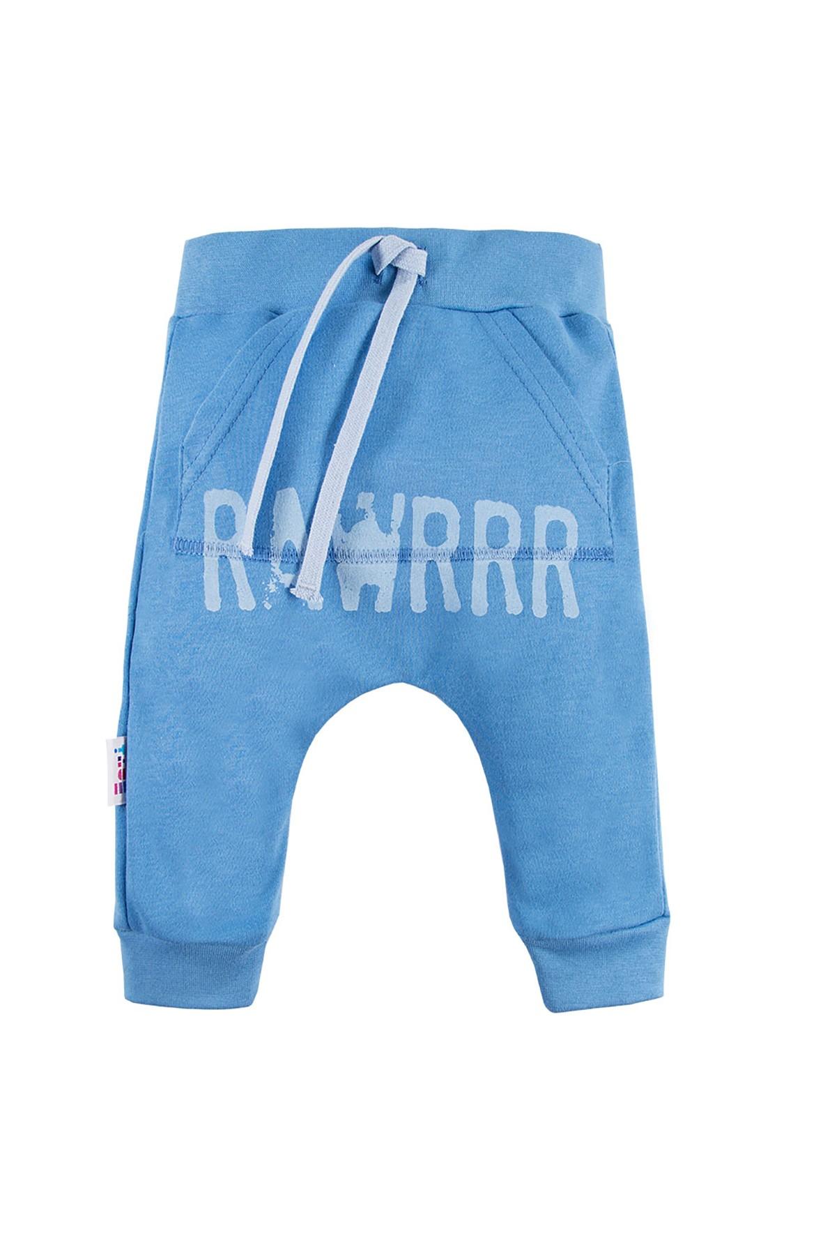 Bawełniane spodnie dresowe NATURE niebieskie