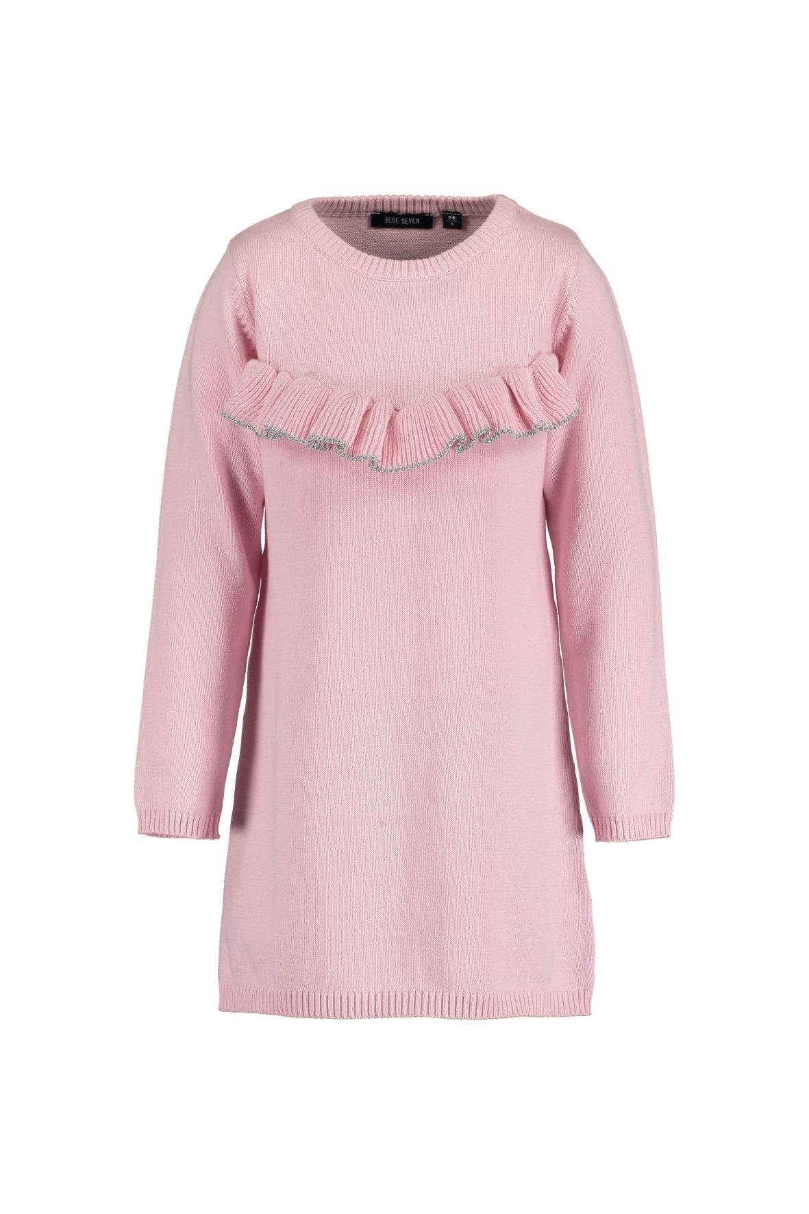 Sukienka różowa z falbanką