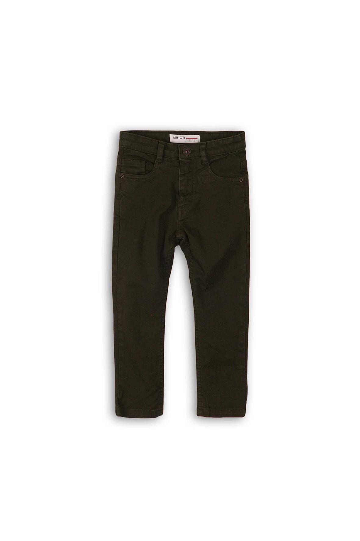 Spodnie chłopięce o klasycznym kroju - brązowe