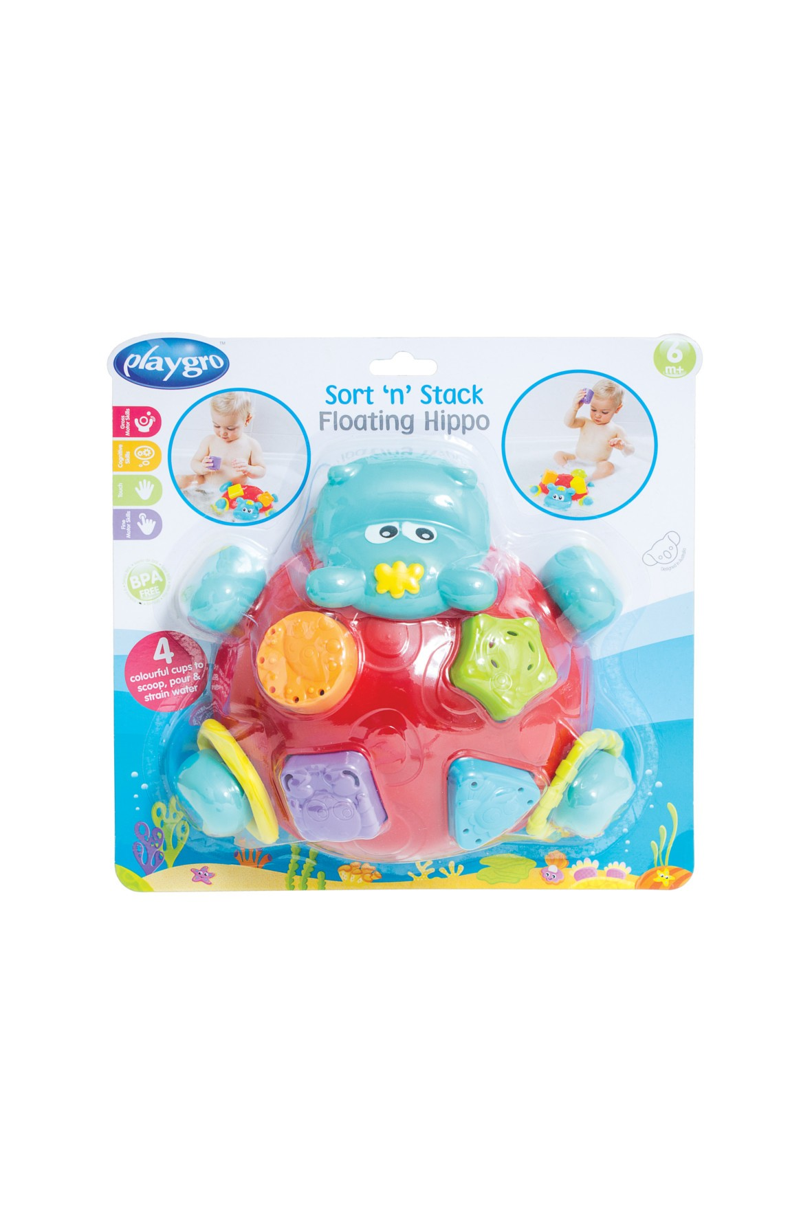 Zabawka do kąpieli-sorter Hipcio
