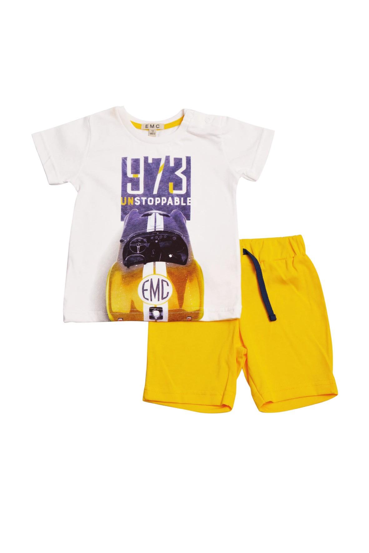 Komplet chłopięcy koszulka+ żółte spodenki