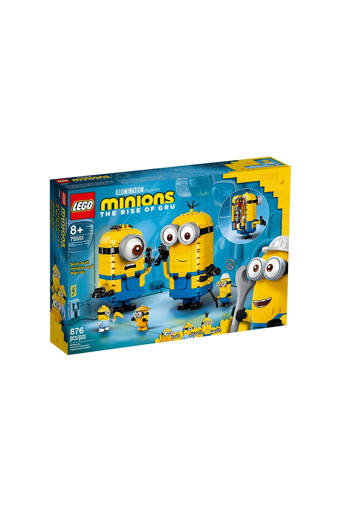 LEGO® Minions 75551 Minionki z klocków i ich gniazdo wiek 8+
