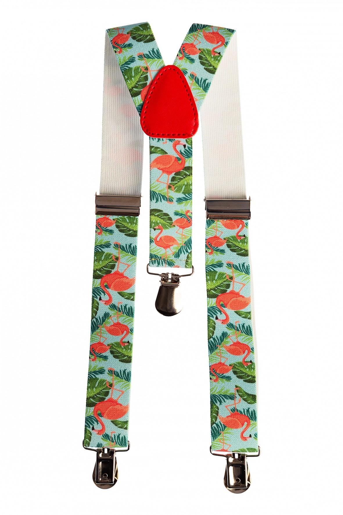 Szelki do spodni dla dziewczynki- flamingi