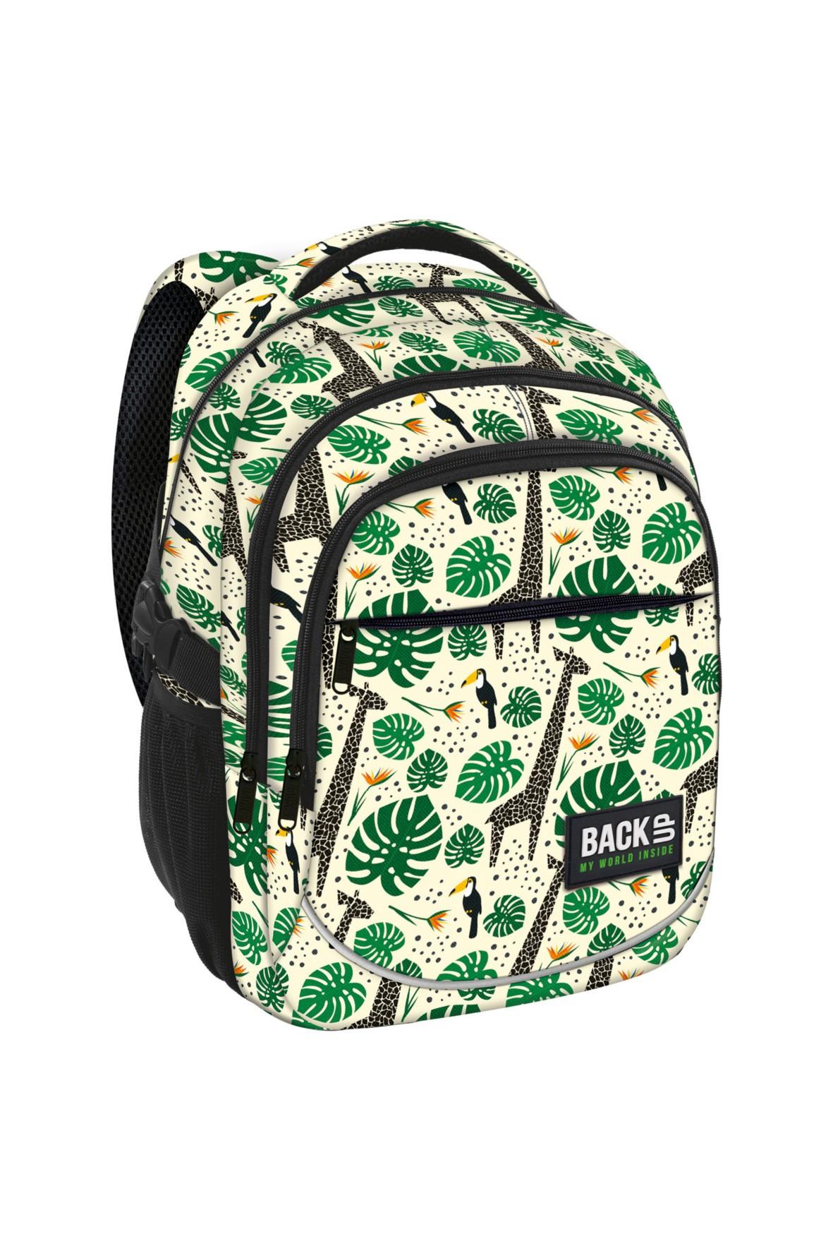 Plecak dziewczęcy motywy roślinne