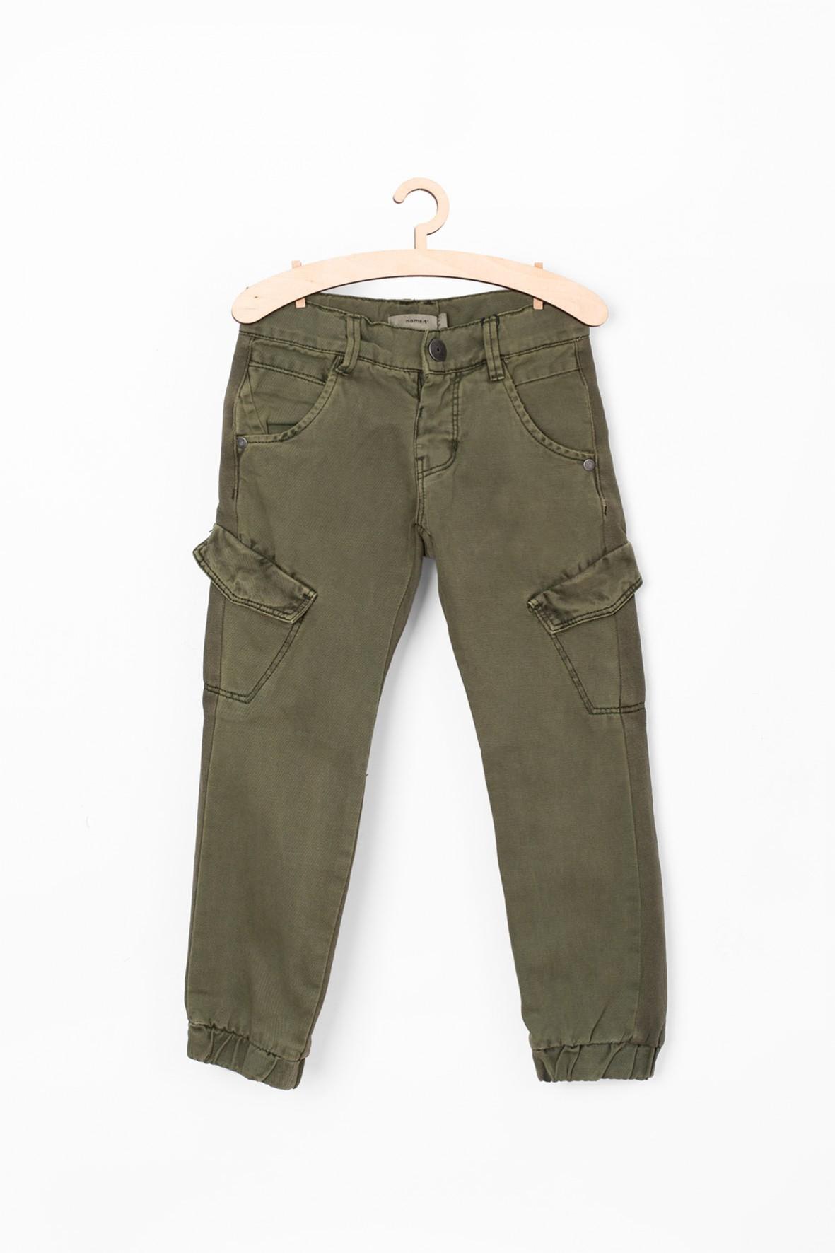 Spodnie dla chłopca- zielona z kieszeniami