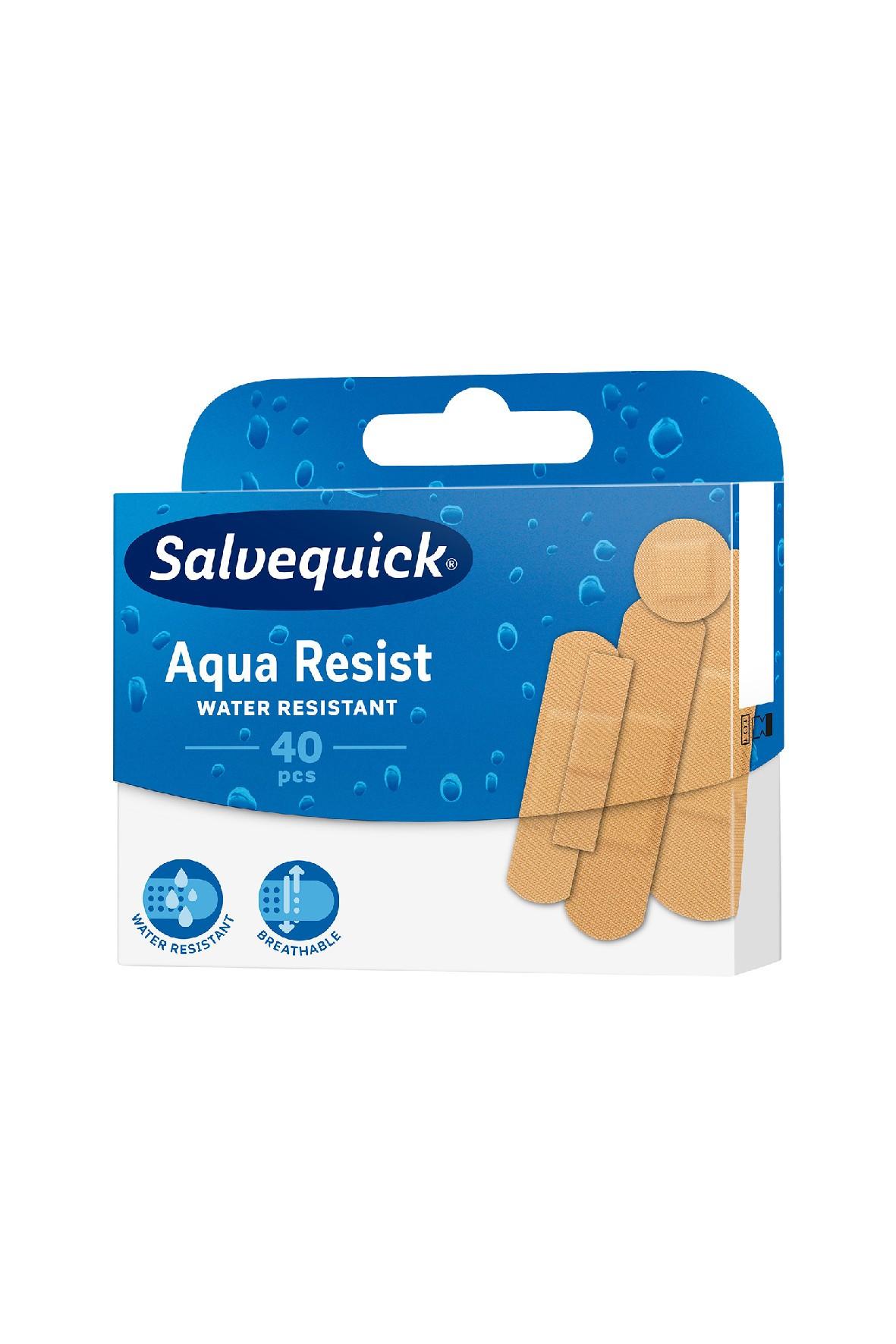 Salvequick Aqua Resist plastry 40 szt.