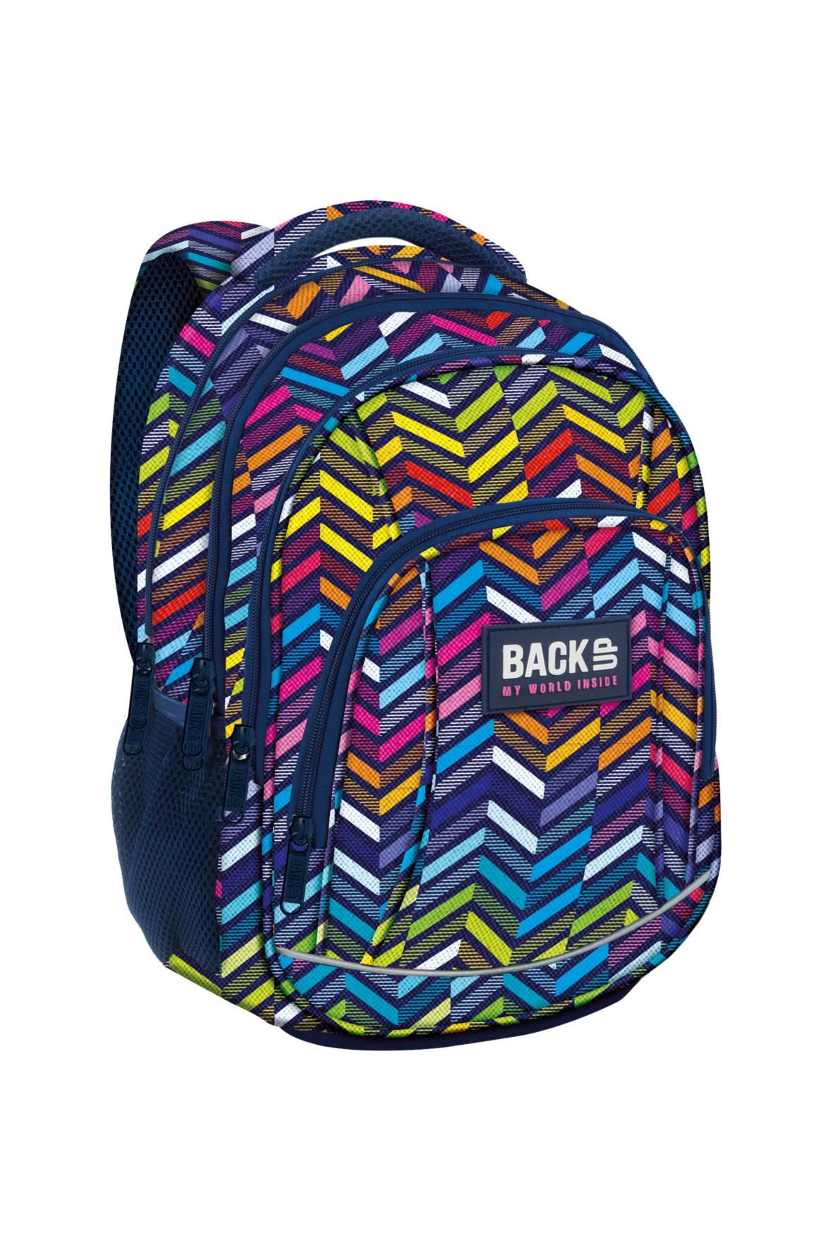 Kolorowy plecak do szkoły-4komorowy