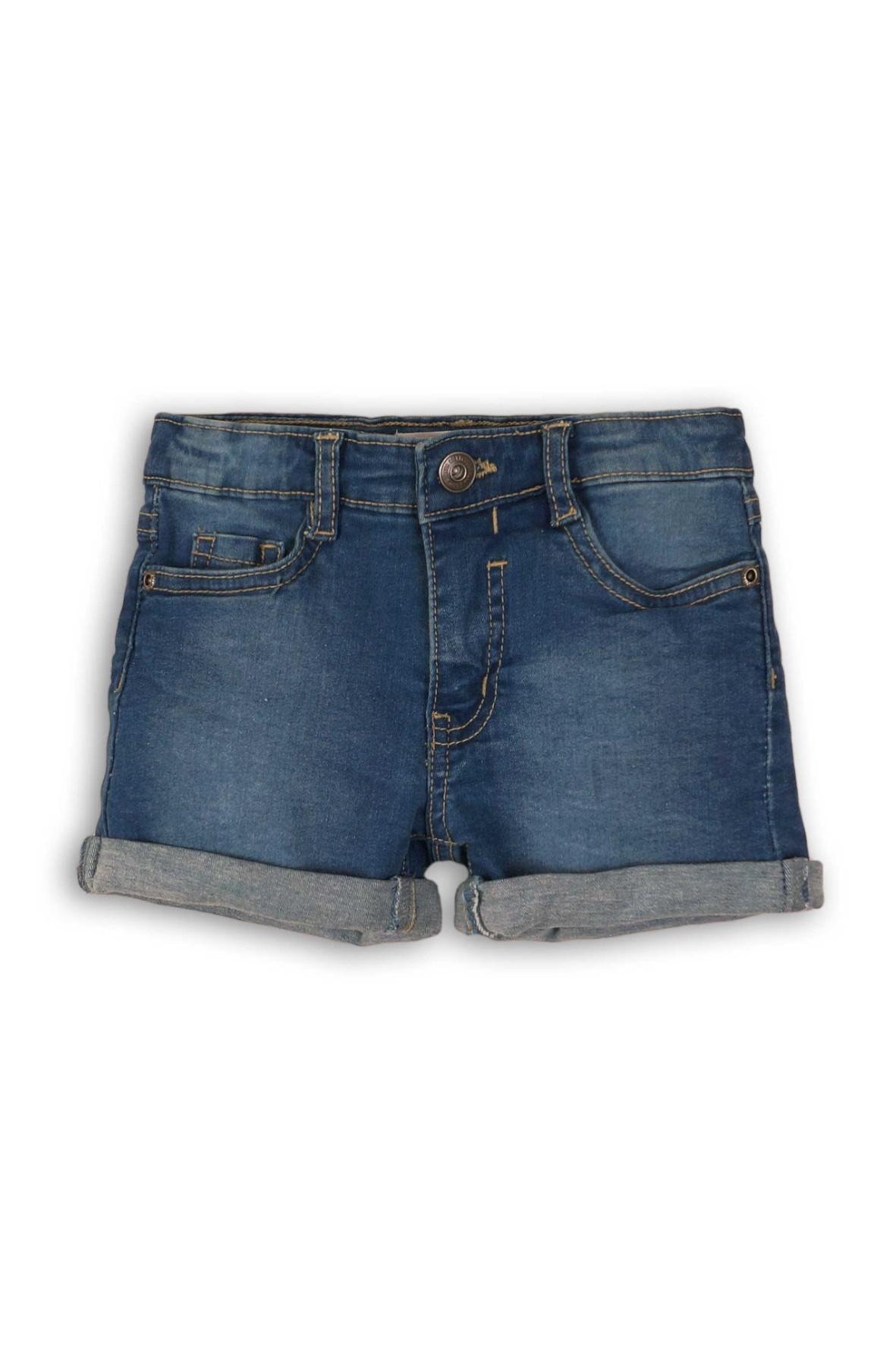 Spodenki dziewczęce z niebieskiego jeansu