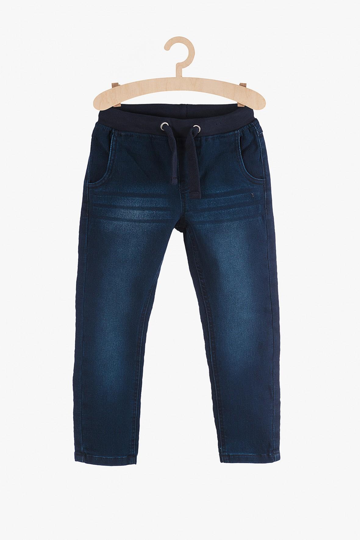 Spodnie jeansowe chłopięce-granatowe