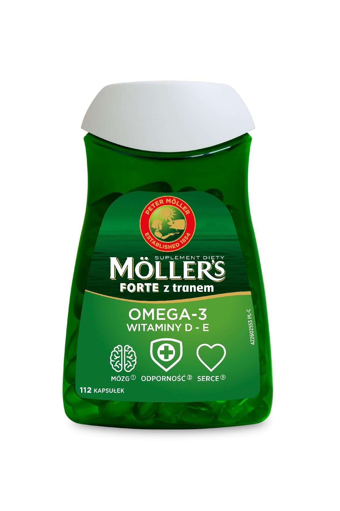 Möller's Forte z tranem 112 kapsułek