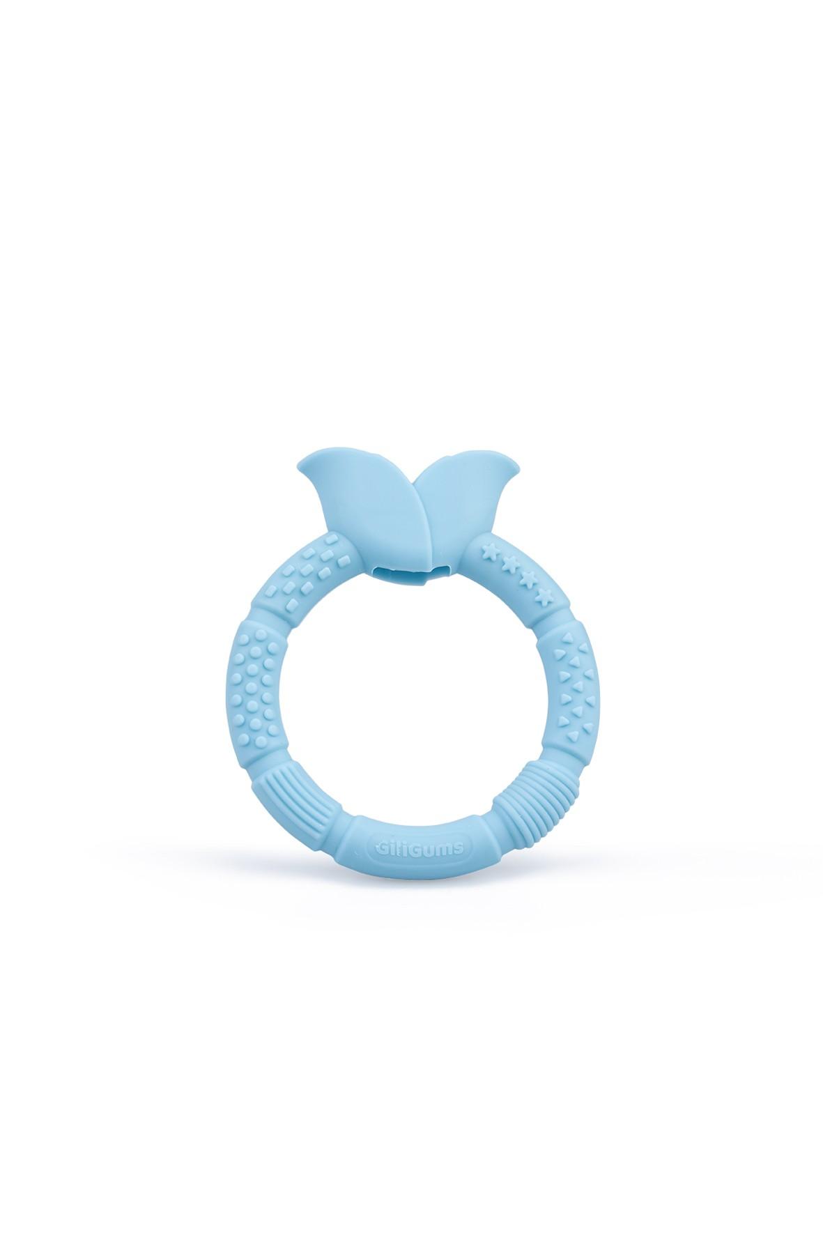 Silikonowy gryzak kwiatek GiliGums - niebieski wiek 3msc+