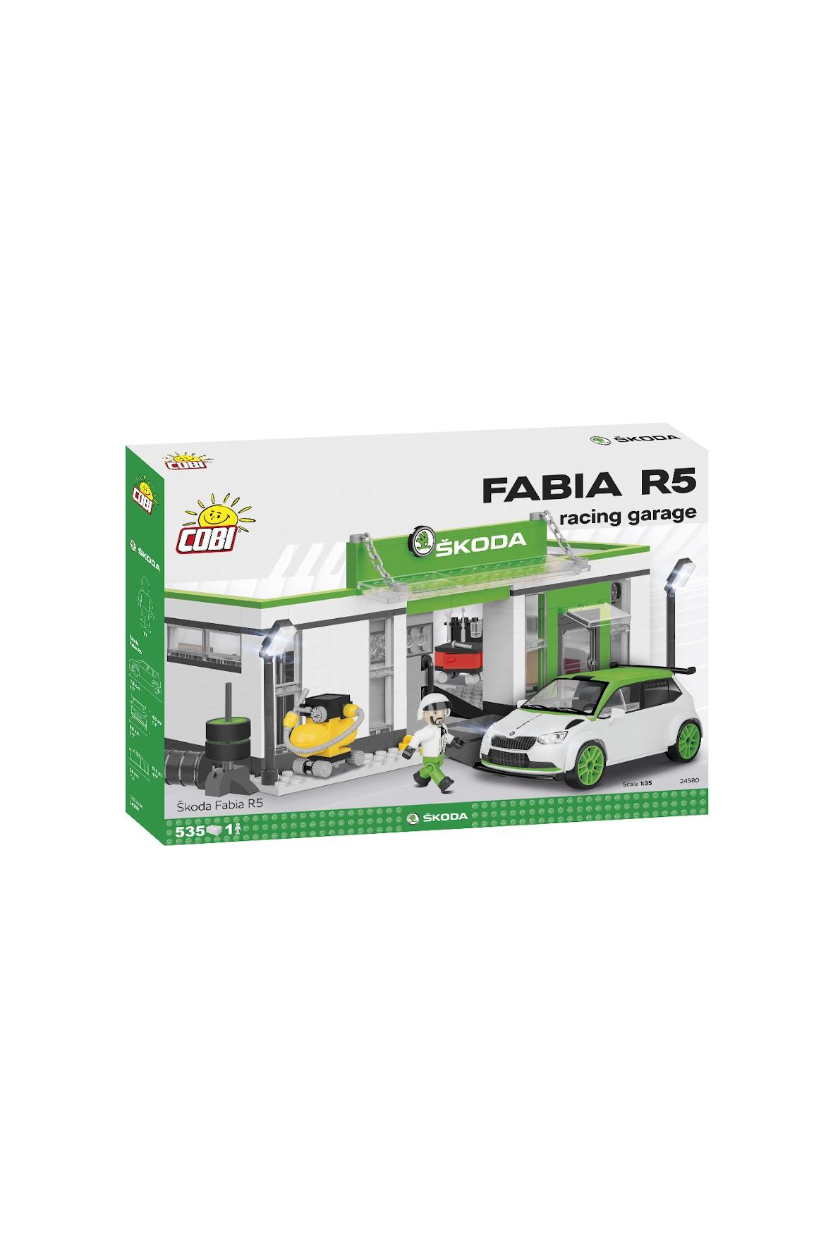 Klocki Cobi Cars Skoda Fabia RS - Racing garage 536el