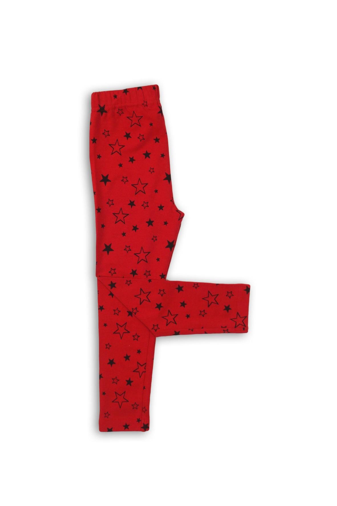 Leginsy dziewczęce czerwone w gwiazdki