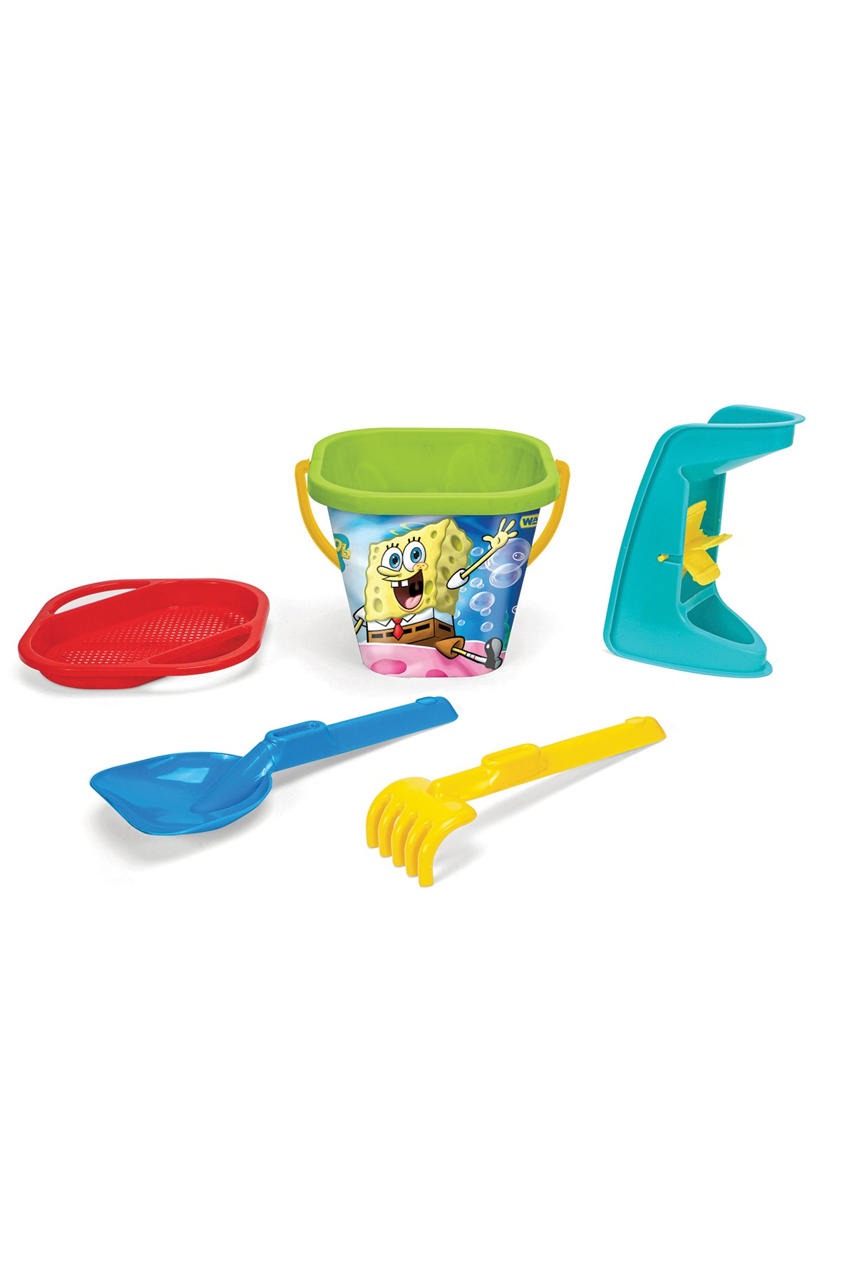 SpongeBob komplet zabawek do piasku - 5 elementów