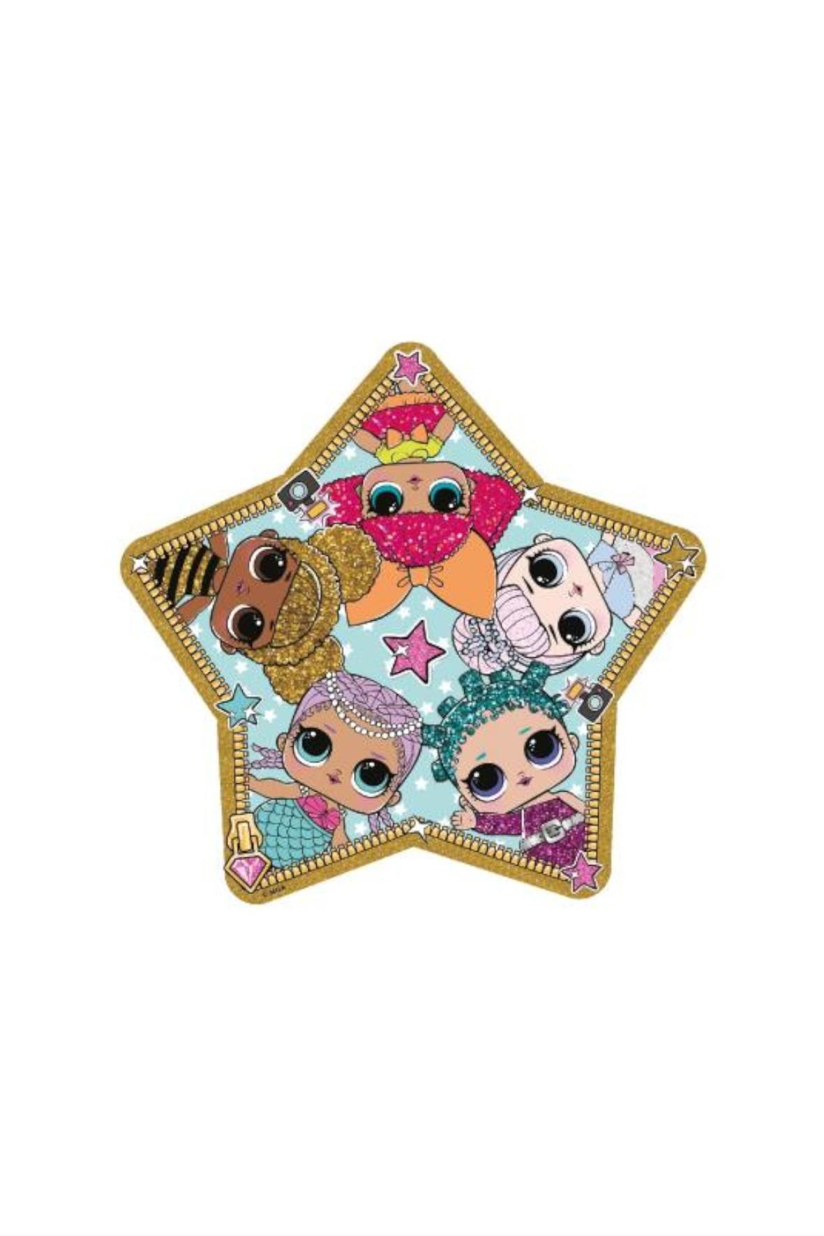 Ręcznik plażowy dziewczęcy w kształcie gwiazdki L.O.L Surprise
