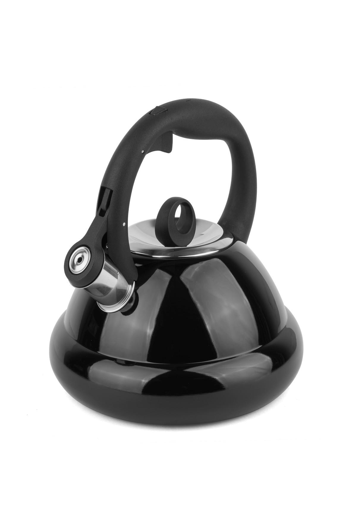 Czajnik nierdzewny z pokrywką  w kolorze czarnym 2,5L