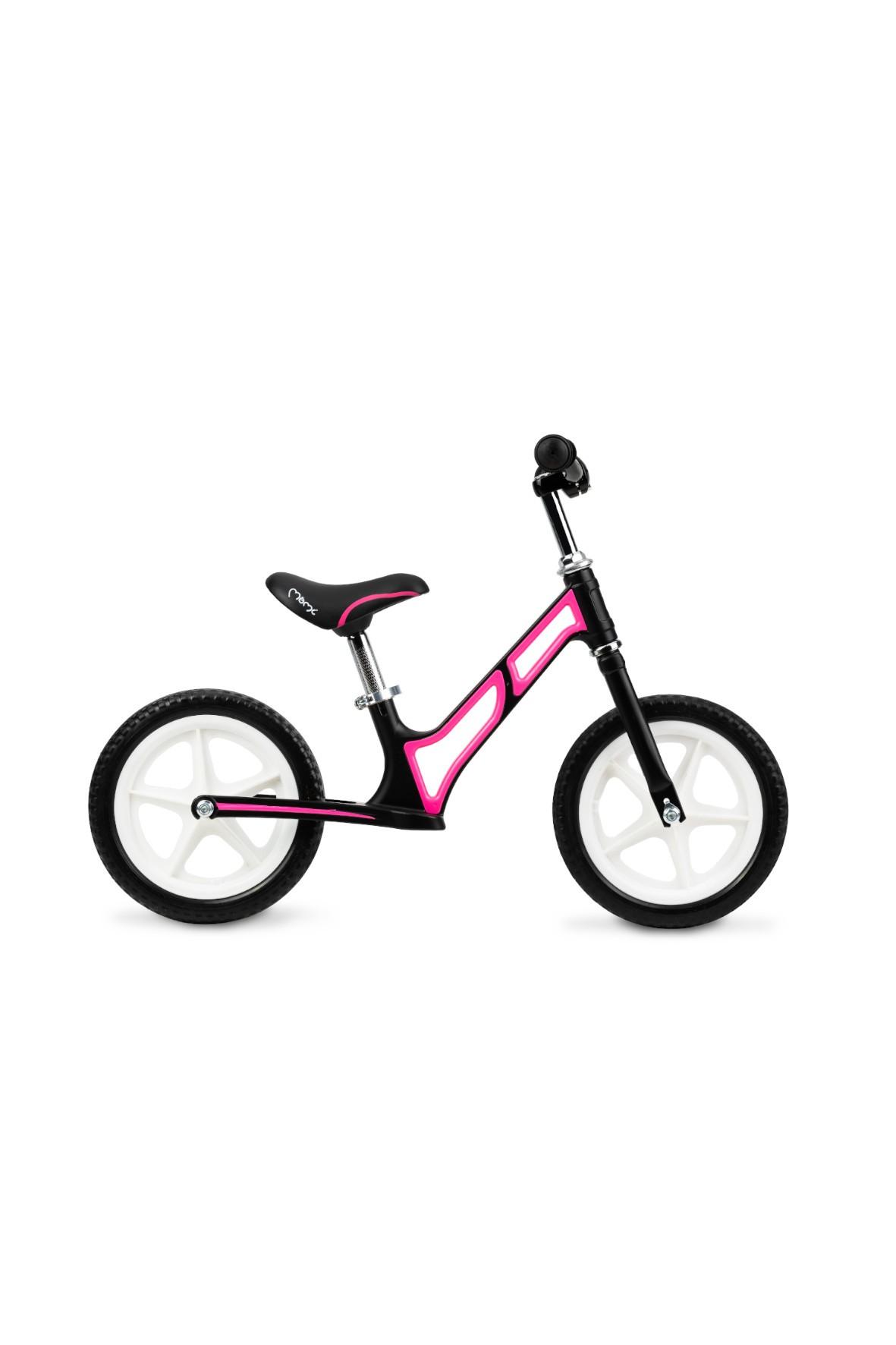 MoMi MOOV superlekki magnezowy rowerek biegowy różowy