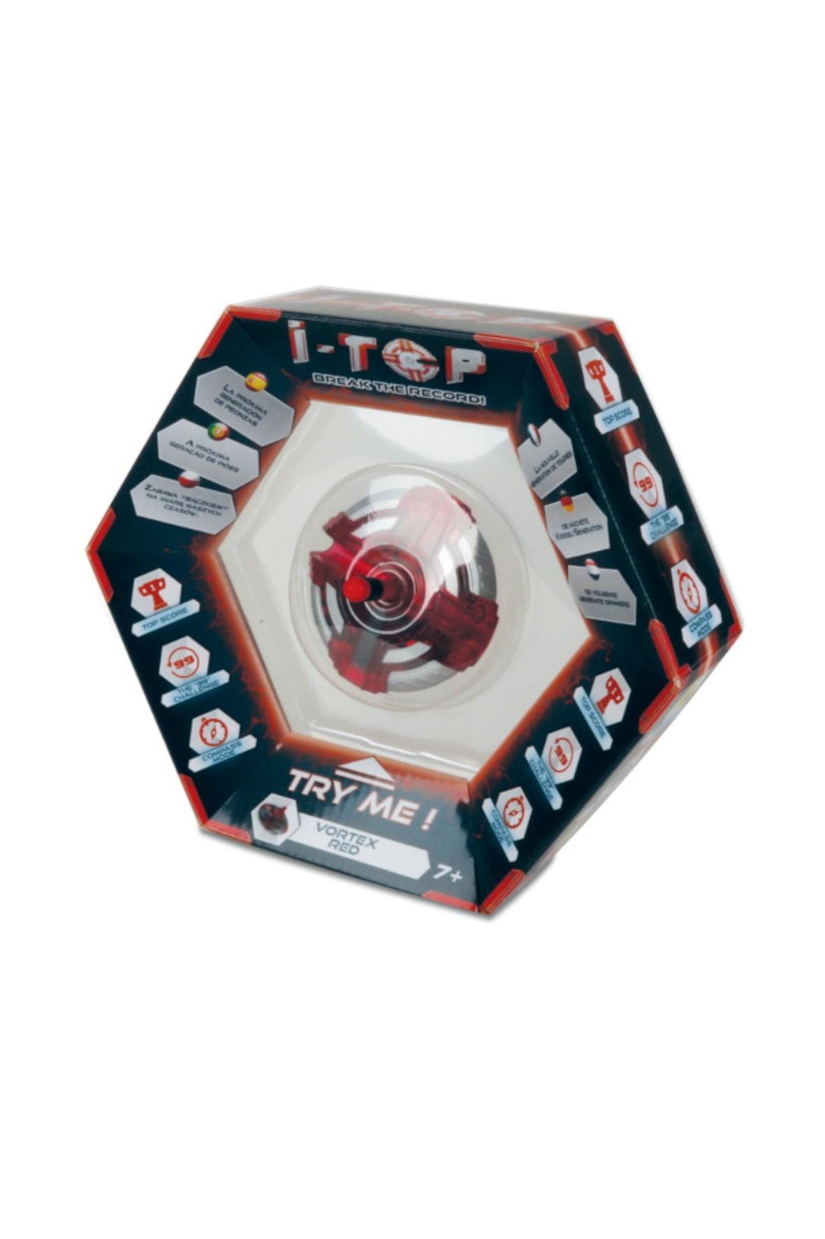Elektroniczny bączek - czerwony I-TOP