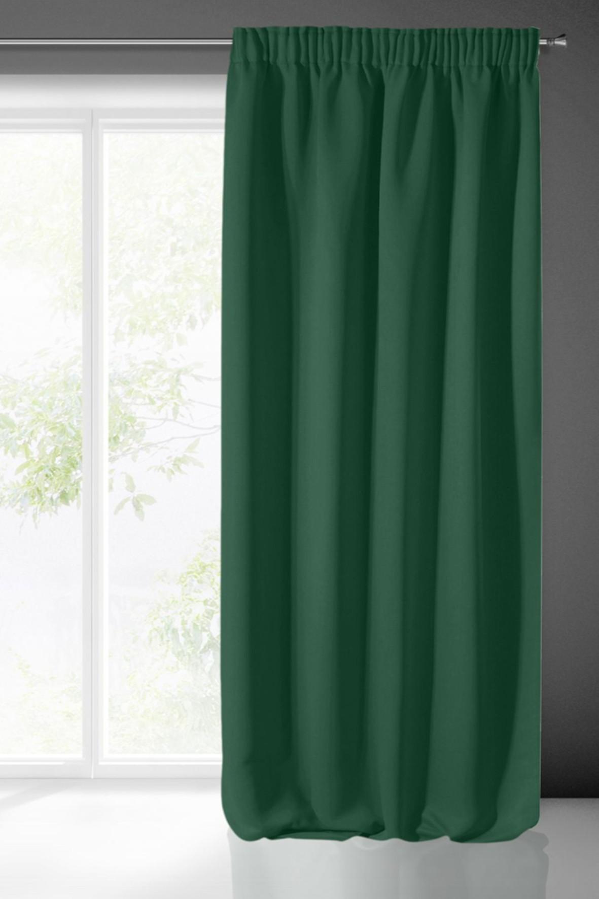 Zasłona jednokolorowa zaciemniająca - zielona -135x270cm