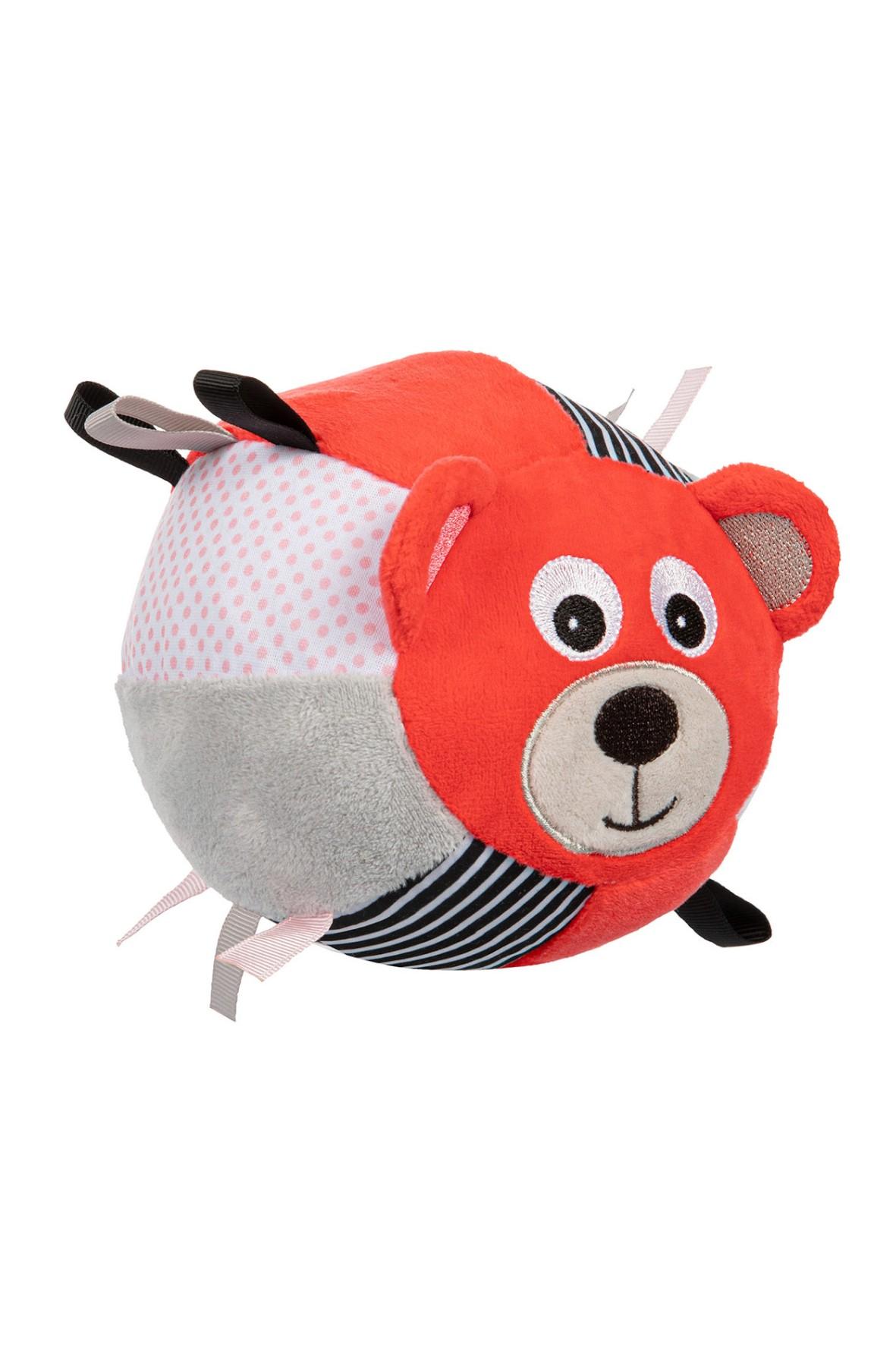 Pluszowa piłka sensoryczna z dzwoneczkiem