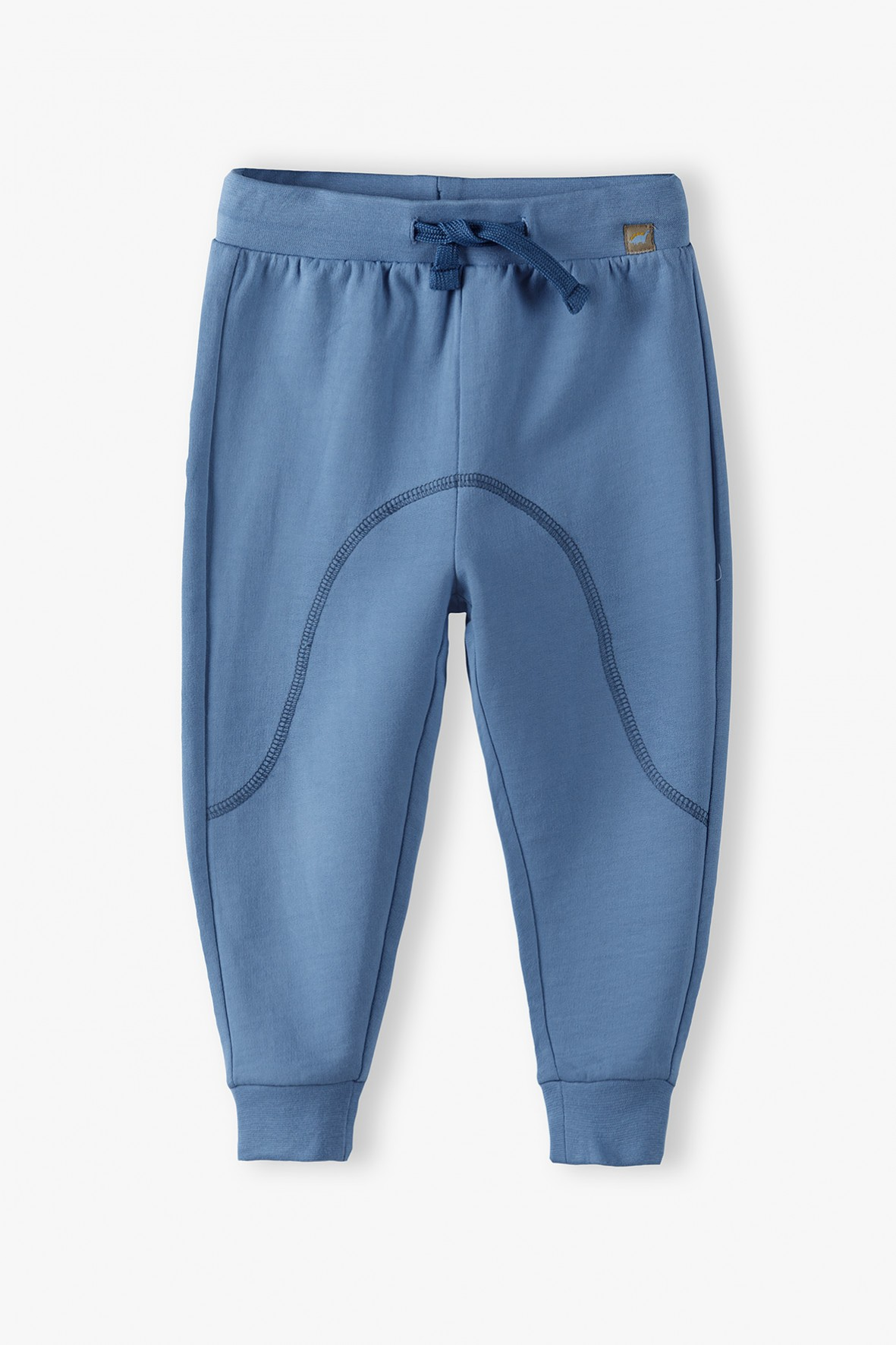 Spodnie dresowe niemowlęce ze ściągaczami- niebieskie