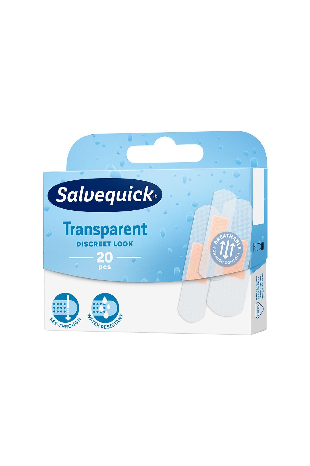 Salvequick Transparent plastry opatrunkowe 20 szt.