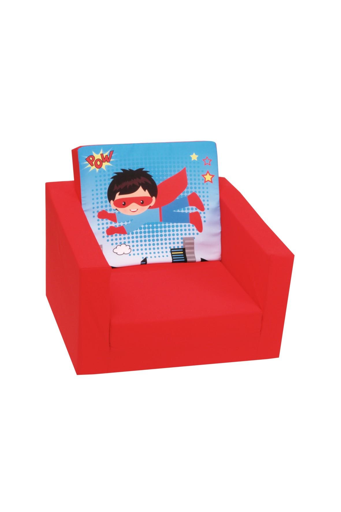 Rozkładany fotelik piankowy dla chłopca Delsit Superbohater