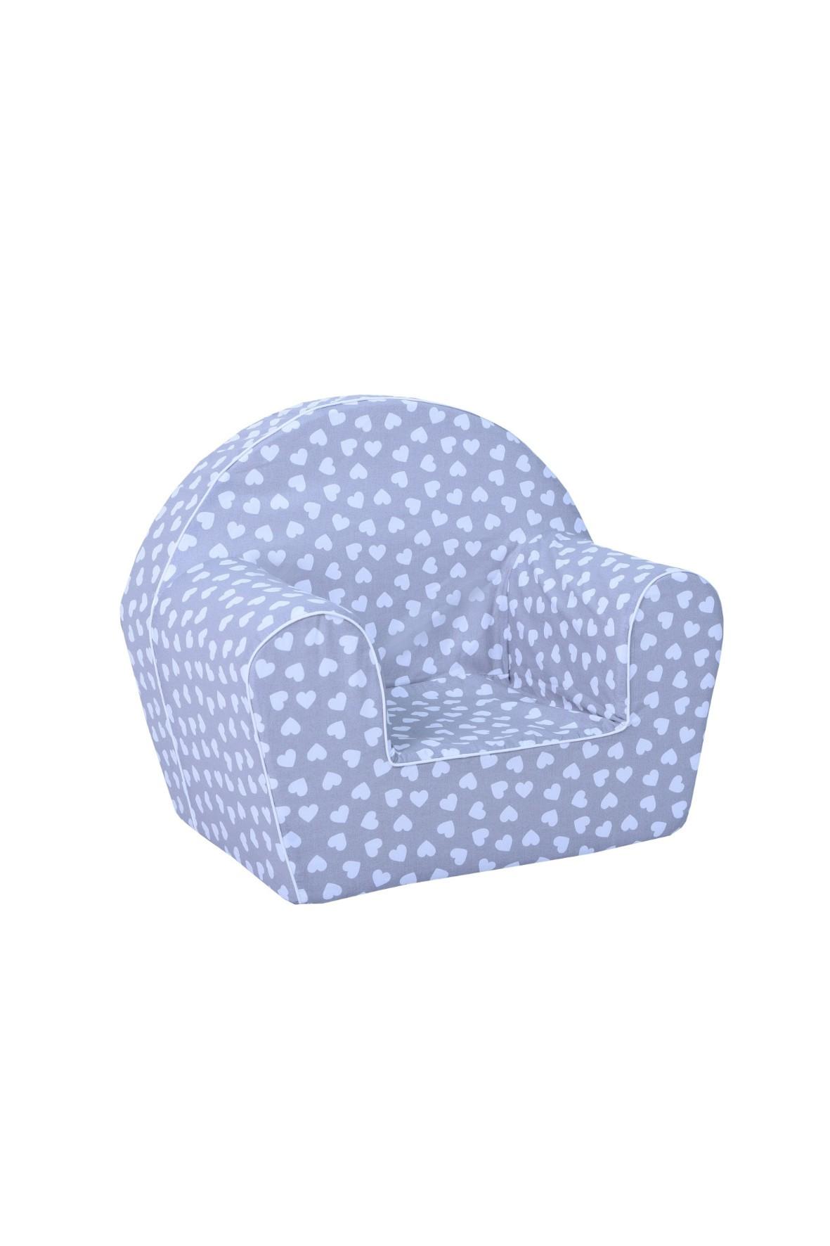 Niebieski fotelik w serduszka