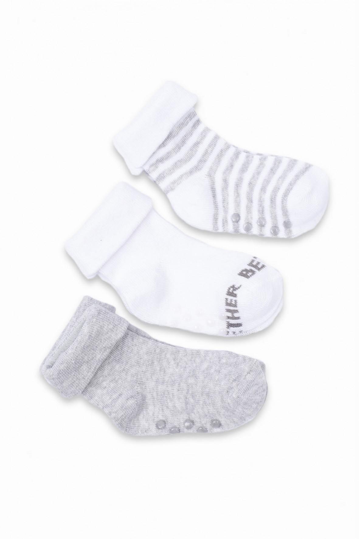 Skarpetki niemowlęce antypoślizgowe 3 pak
